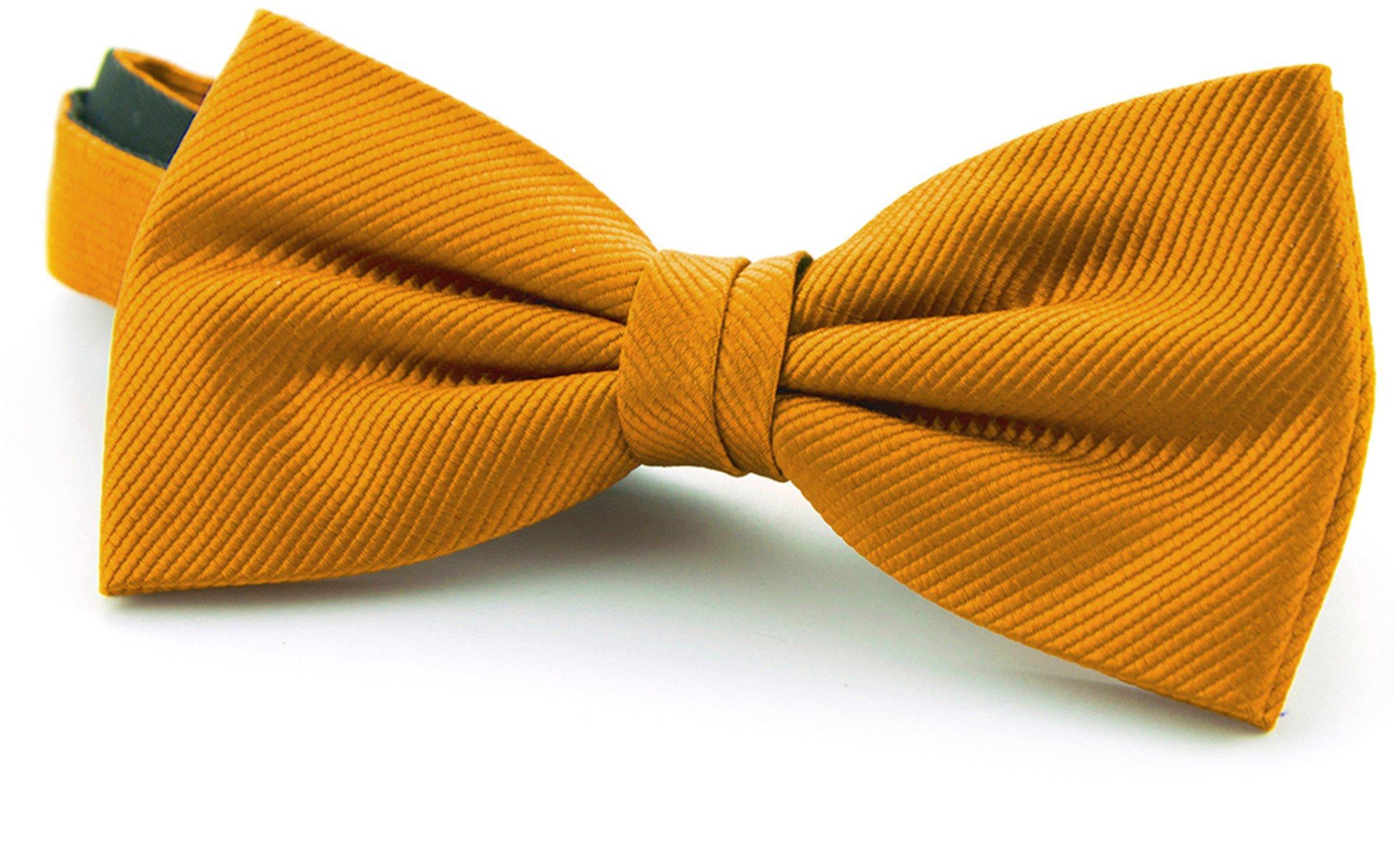 Silk Bow Tie Gold F13