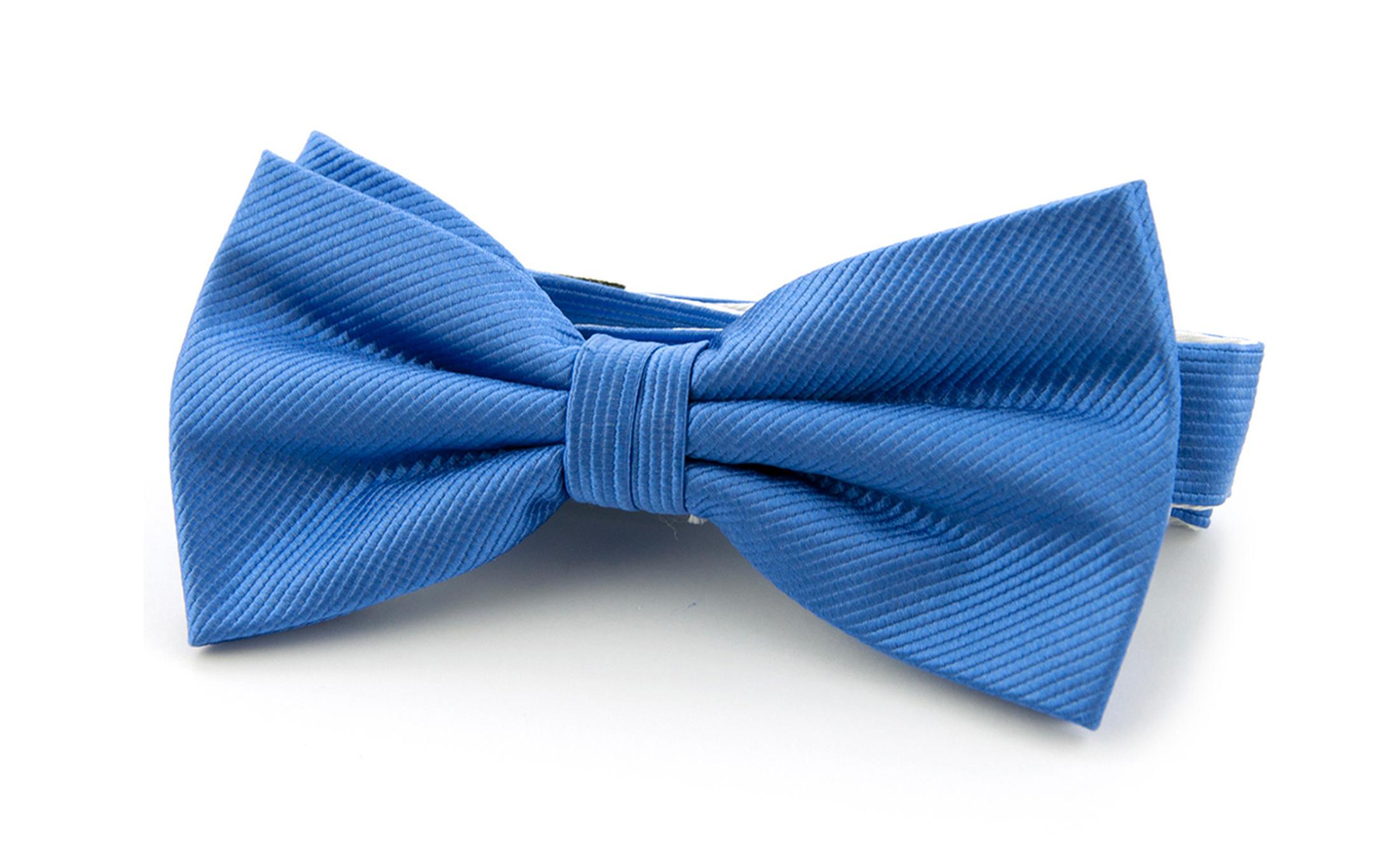 Silk Bow Tie Mid Blue F05