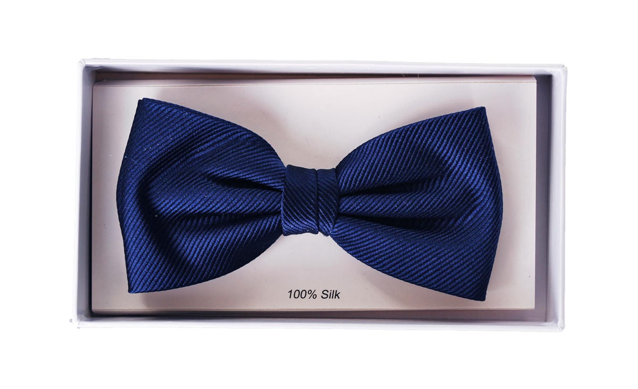 Silk Bow Tie Navy F35 foto 1