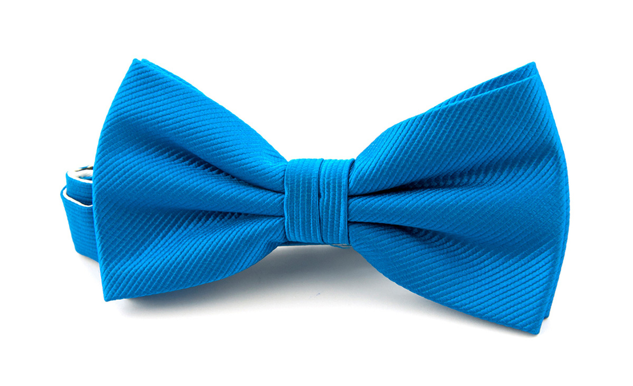 Silk Bow Tie Ocean Blue F32