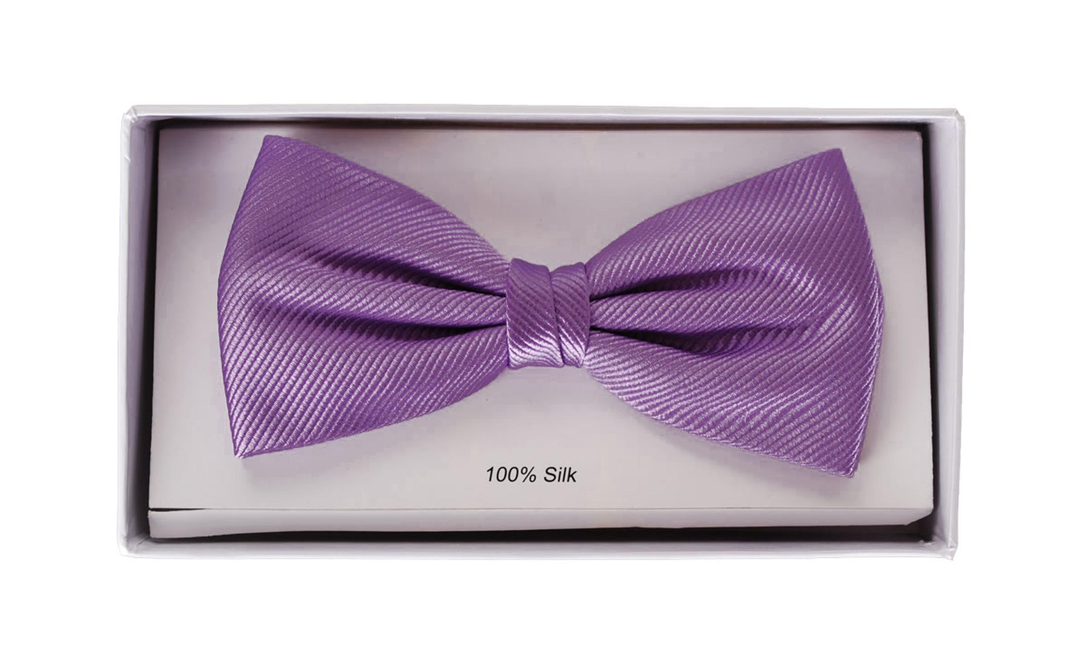 Silk Bow Tie Purple F30