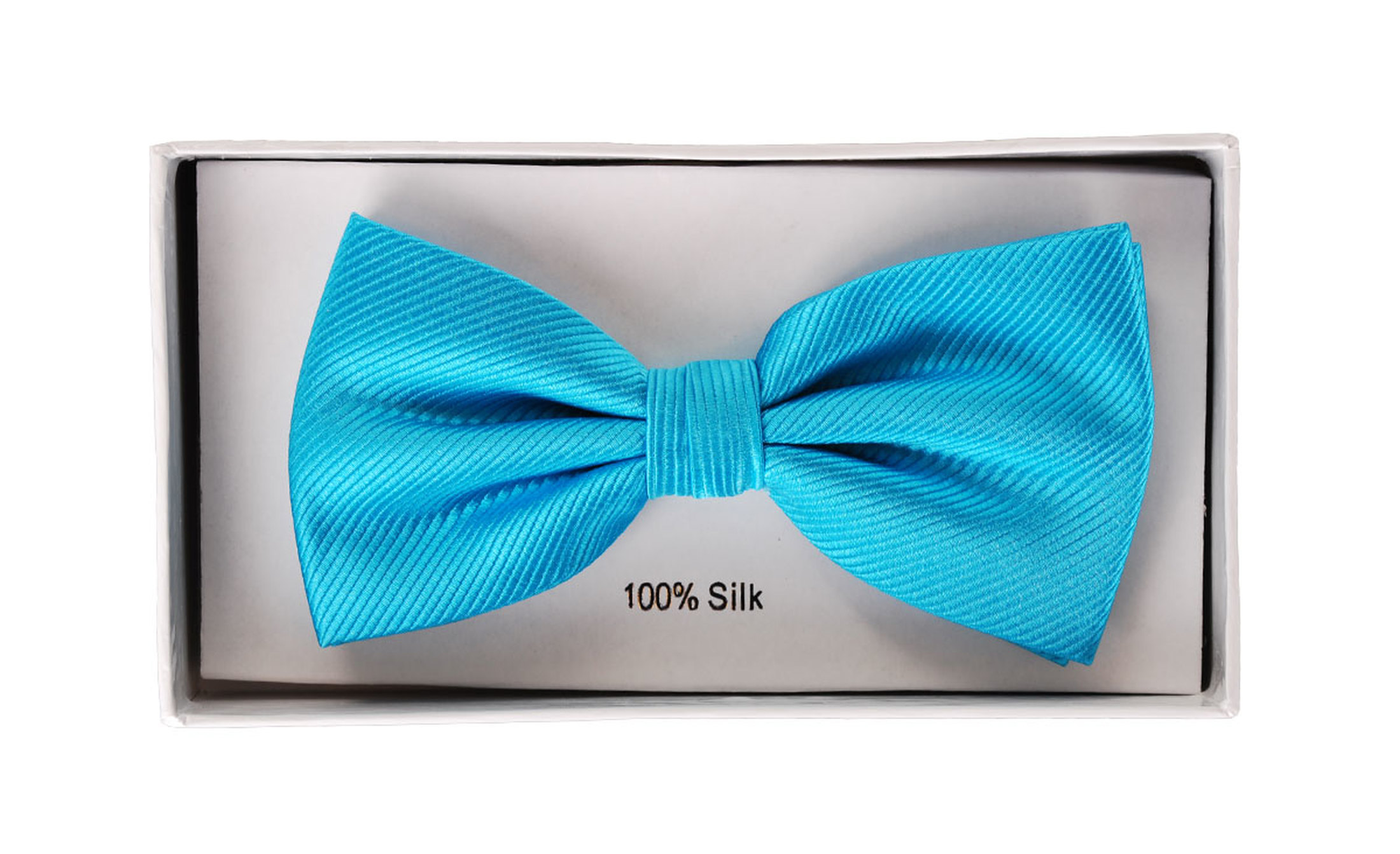 Silk Bow Tie Turquoise F24