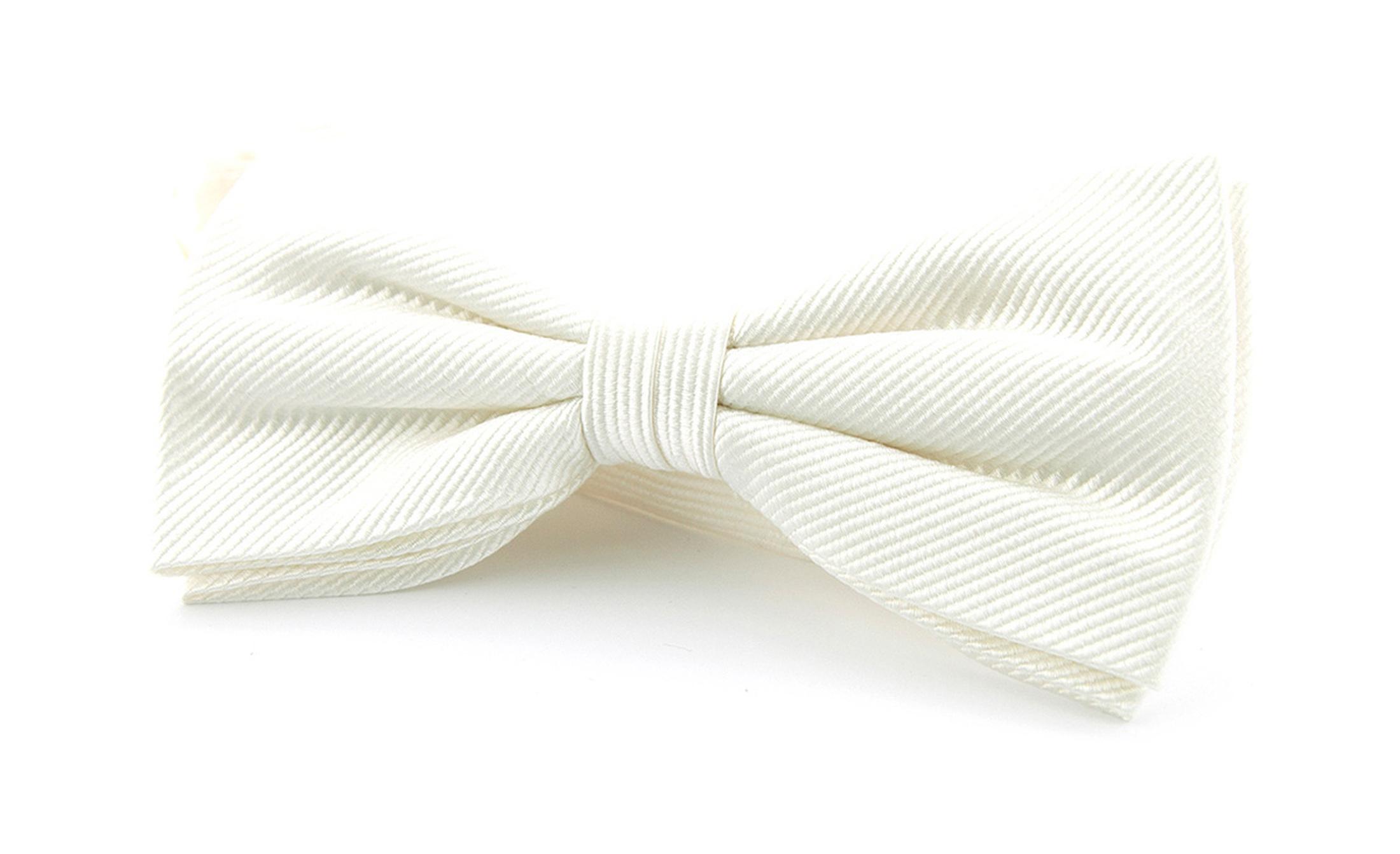 Silk Bow Tie white F27