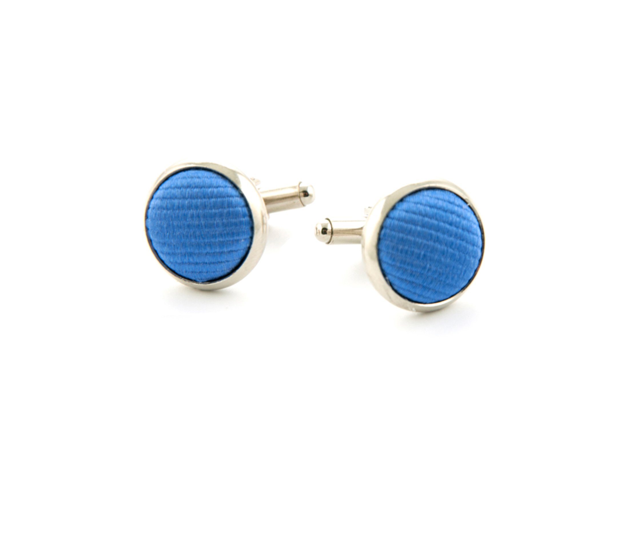 Silk Cufflinks Blue F05 foto 0