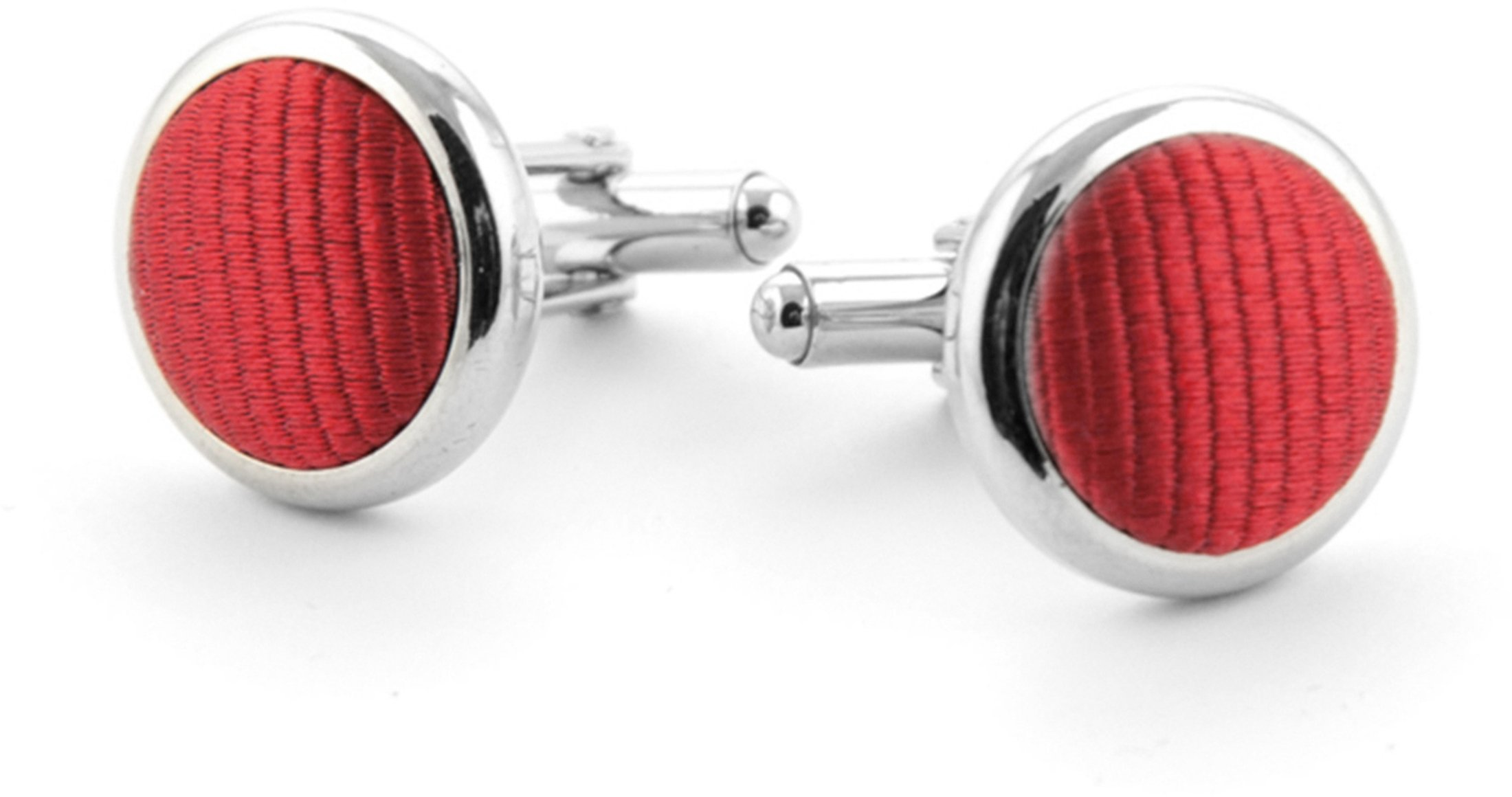 Silk Cufflinks Brique F14