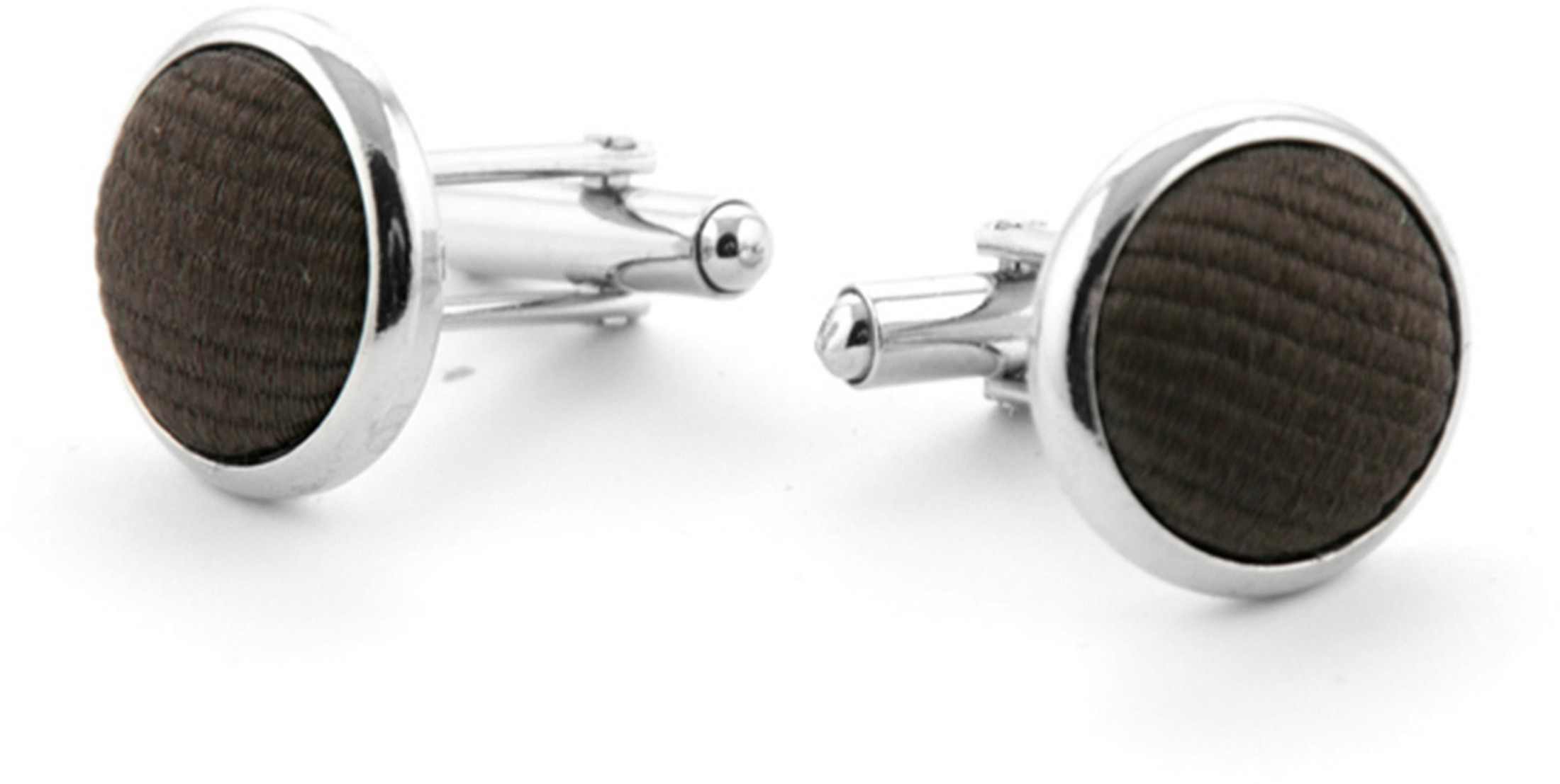 Silk Cufflinks Brown F45