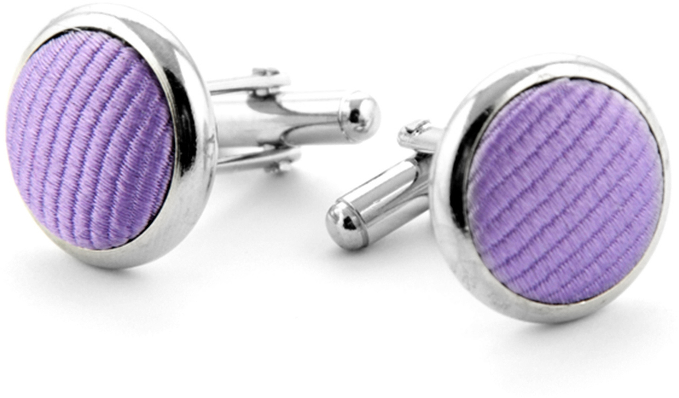 Silk Cufflinks Lila F26