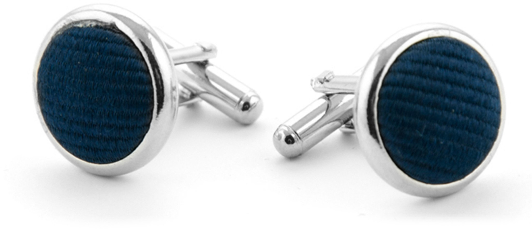 Silk Cufflinks  Navy F35