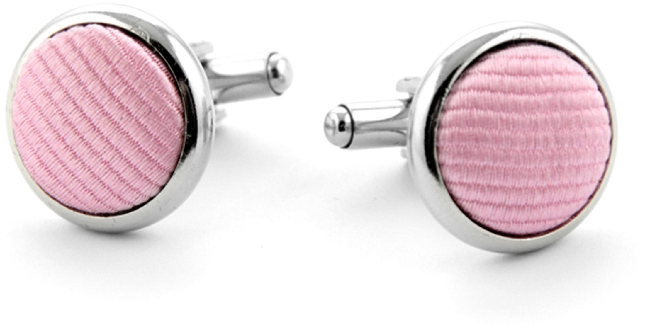Silk Cufflinks Pink F03 photo 0