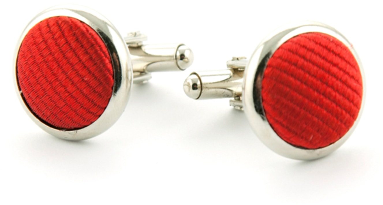 Silk Cufflinks Red F34 foto 0