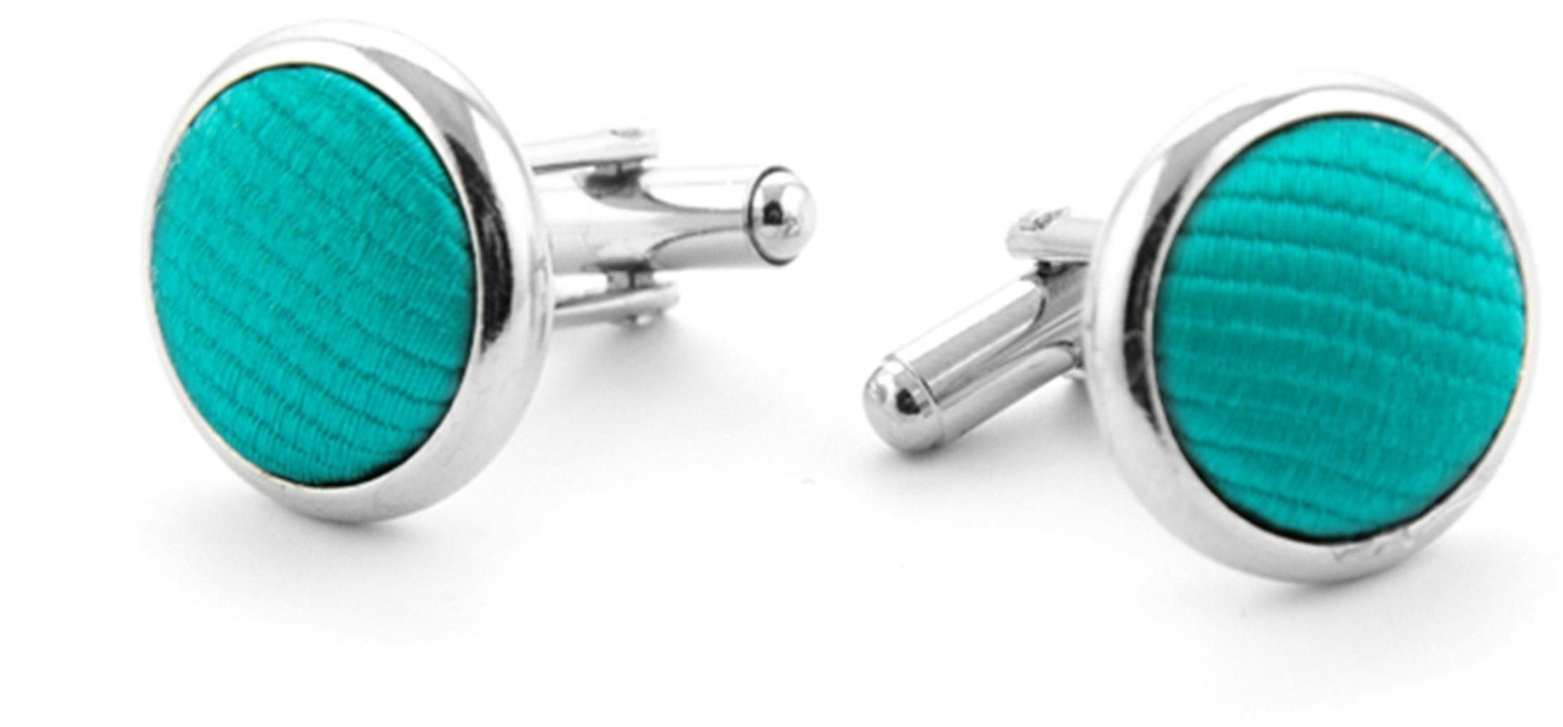 Silk Cufflinks Smaragd F67