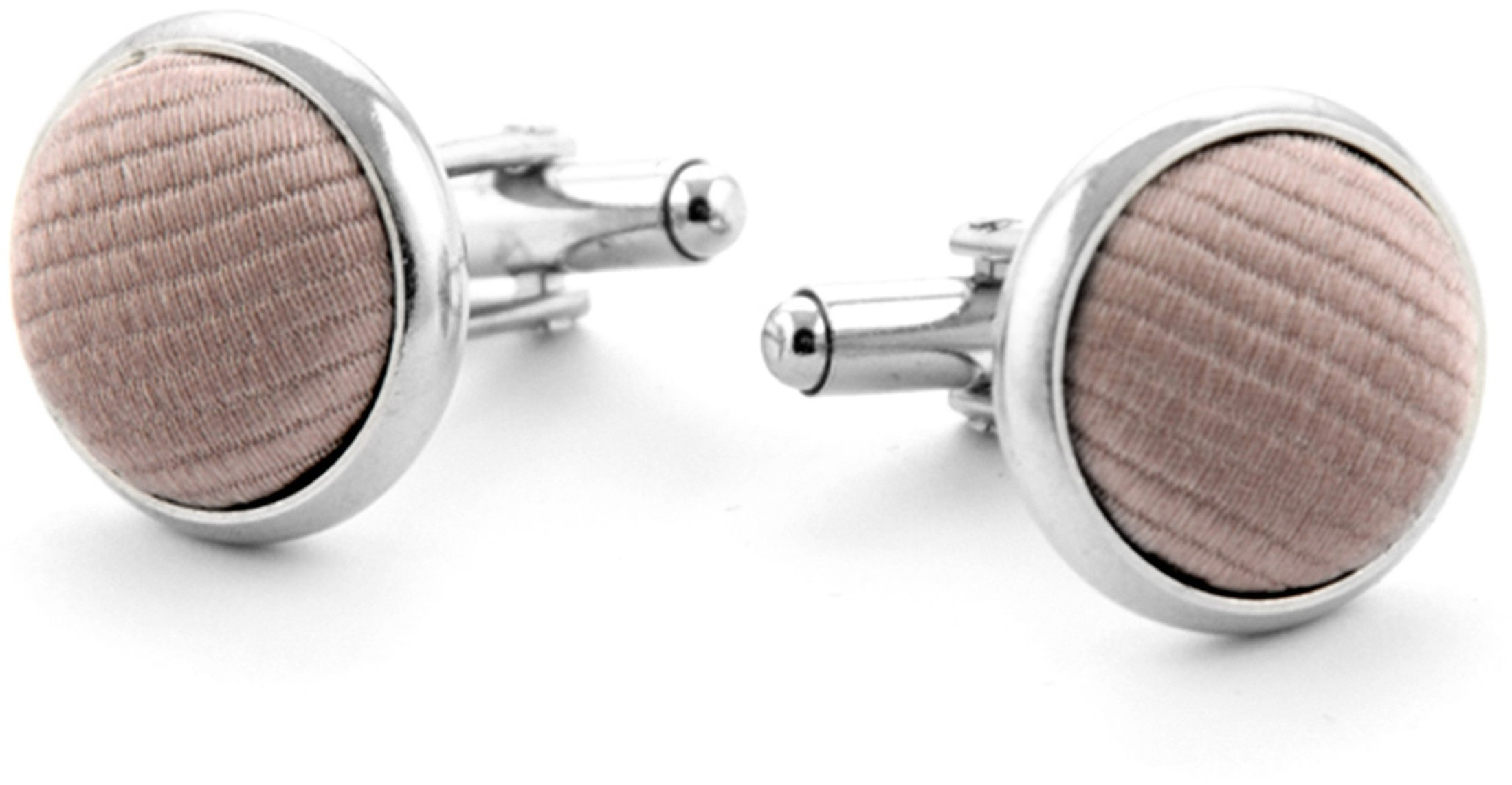 Silk Cufflinks Taupe F69
