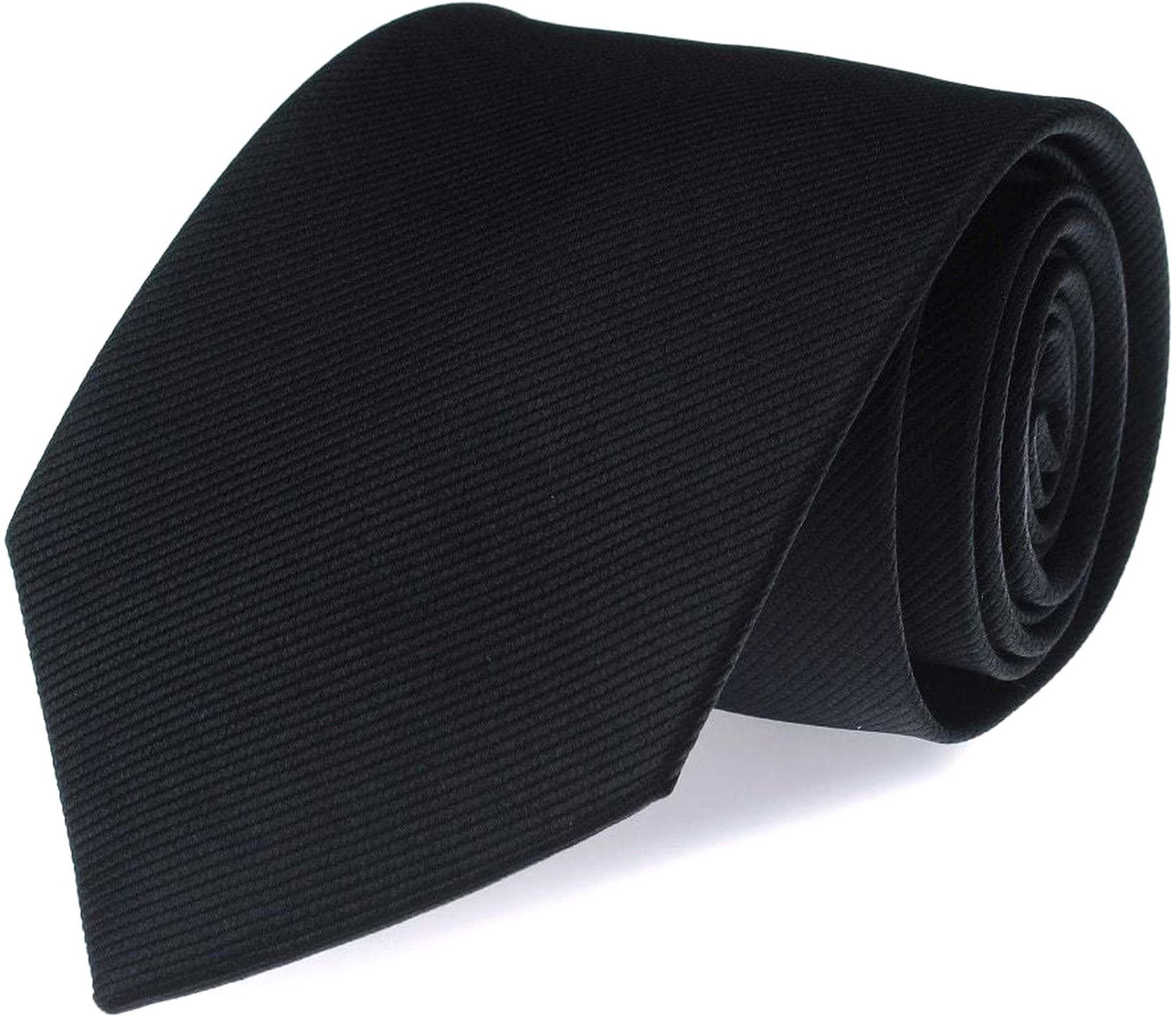 Silk Tie Black F08 foto 0