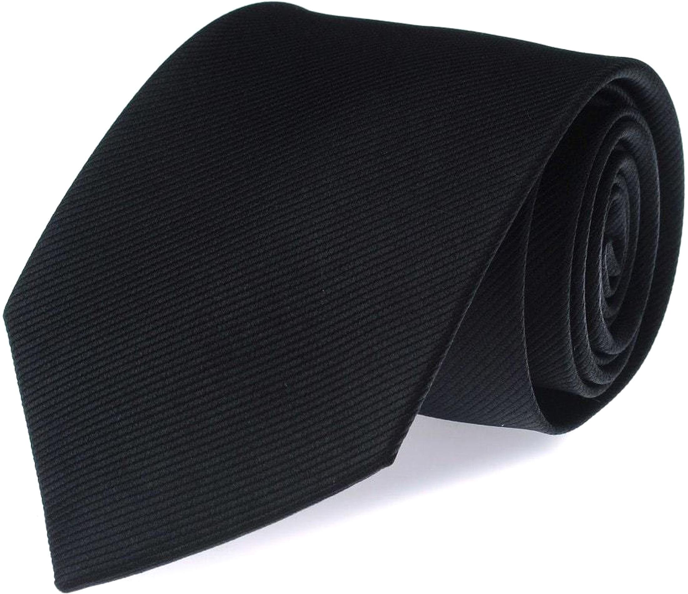 Silk Tie Black F08