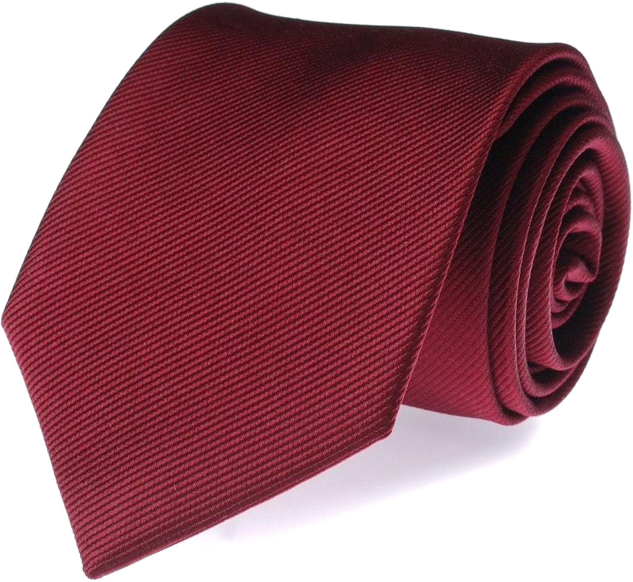 Silk Tie Bordeaux F31 photo 0