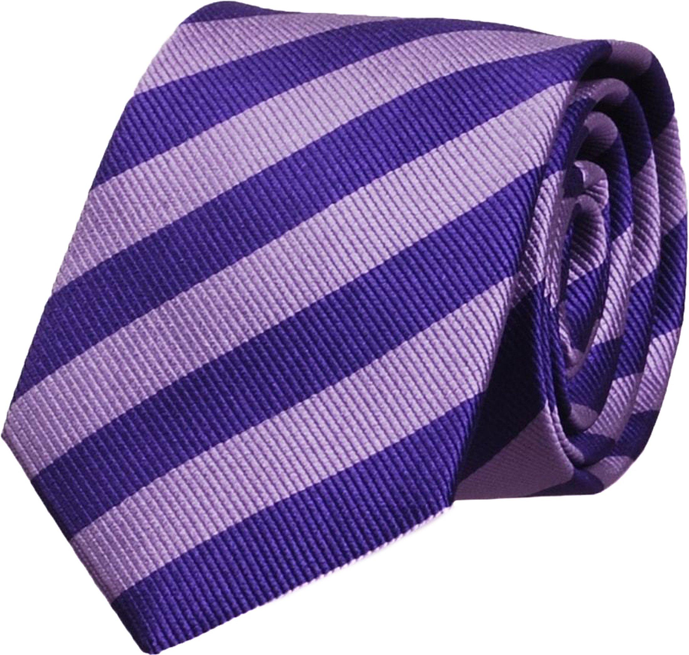 Silk Tie Lime Lila + Deep Purple Striped FD04