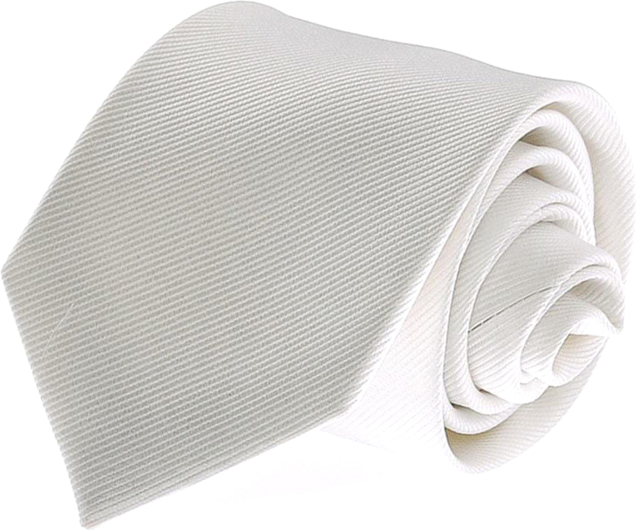 Silk Tie White F27 foto 0