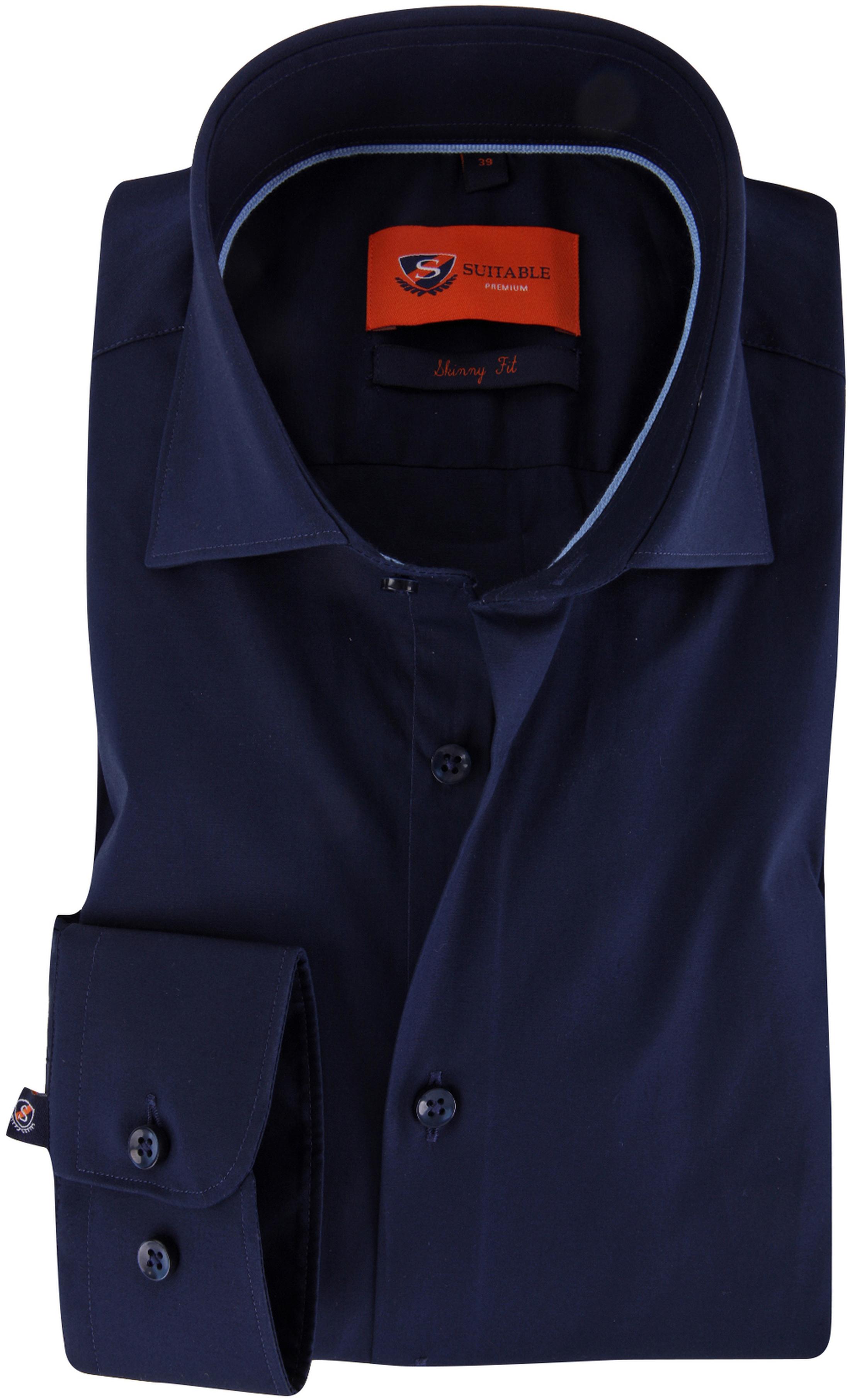 Skinny Fit Overhemd.Skinny Fit Overhemd Donkerblauw Sn 3 Navy Skinny