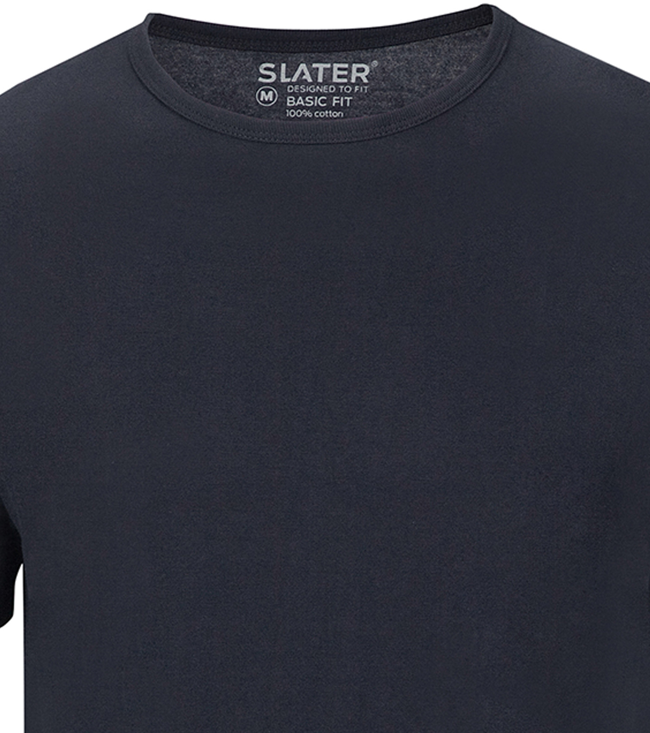 Slater 2-pack Basic Fit T-shirt Navy foto 1