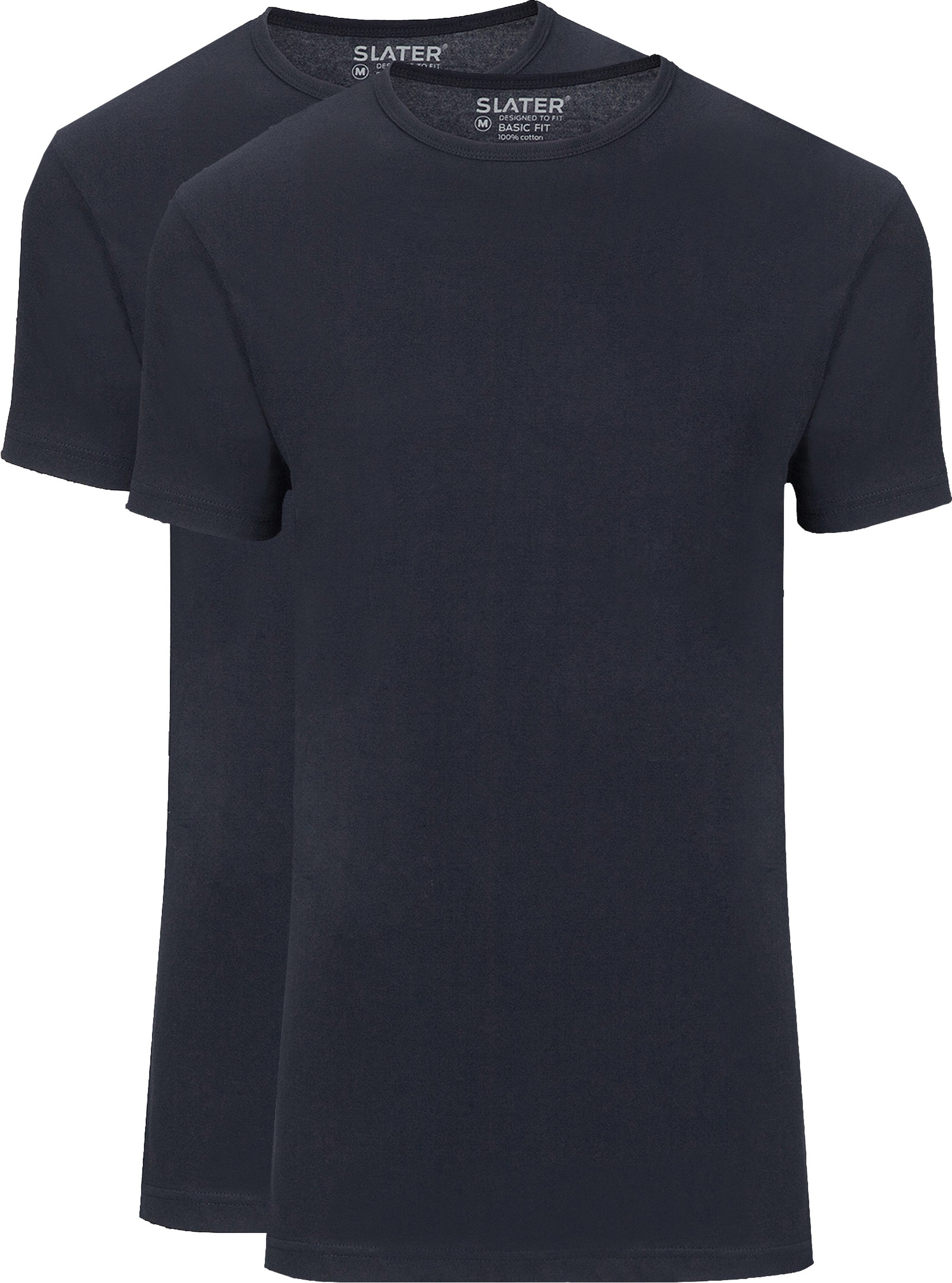 Slater 2-pack Basic Fit T-shirt Navy foto 0