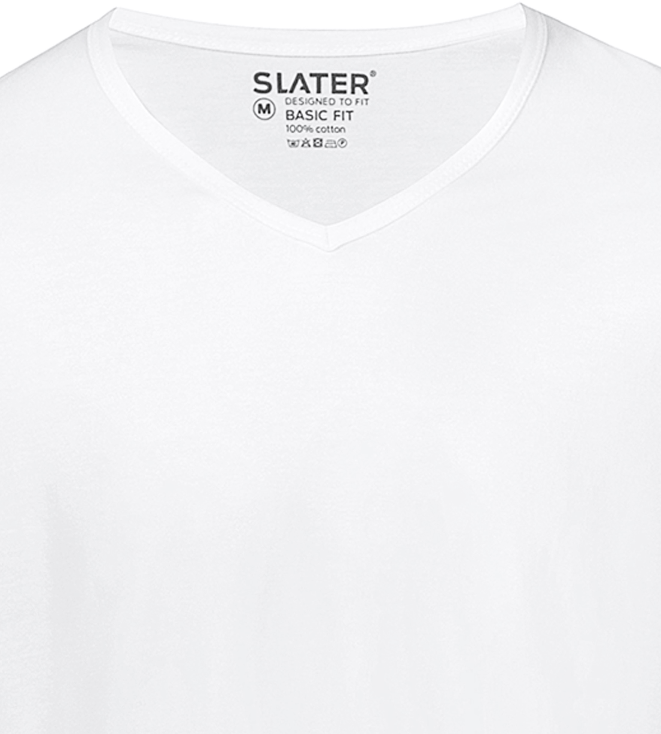 Slater 2-pack Basic Fit T-shirt V-neck White foto 1