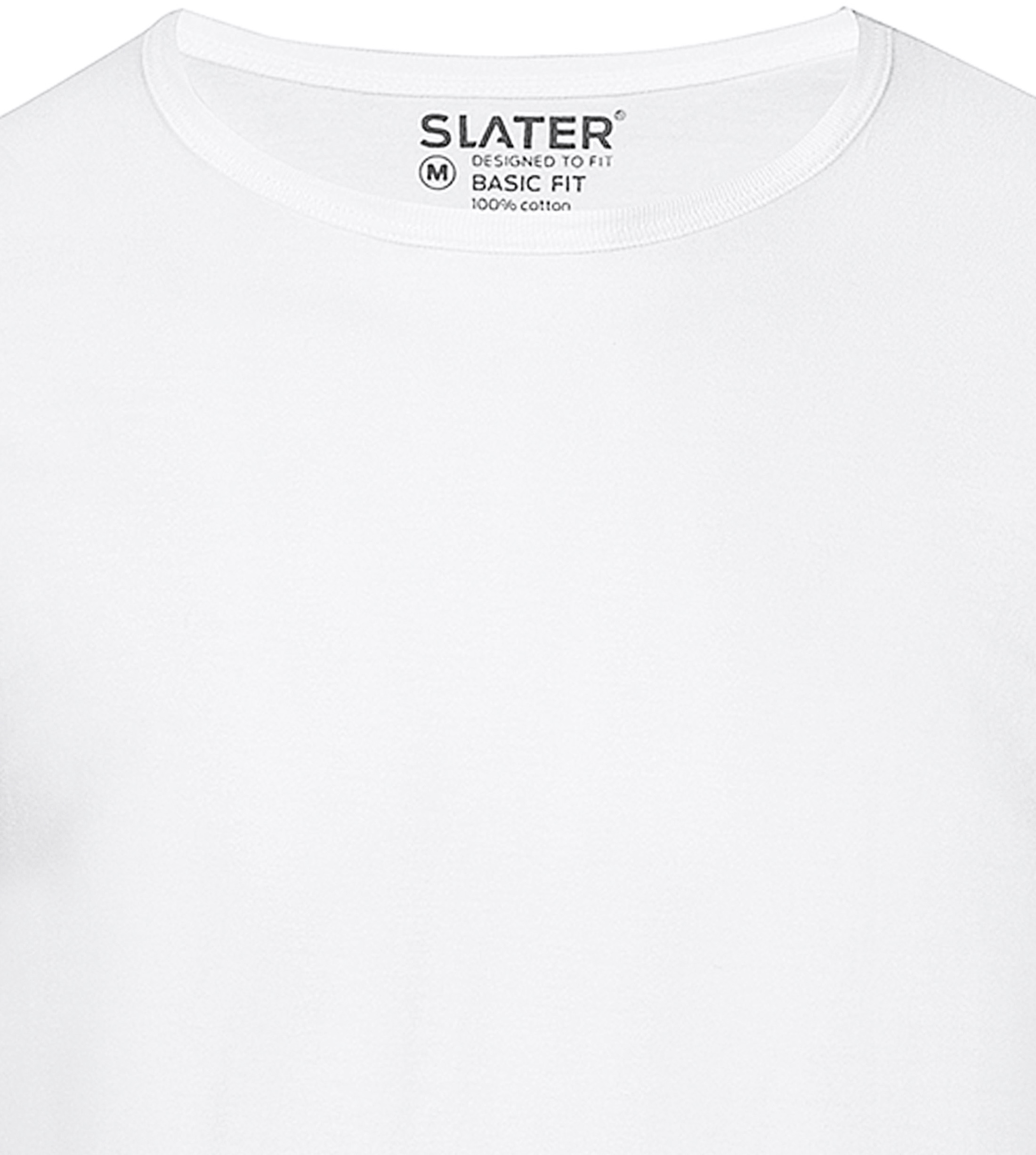 Slater 2-pack Basic Fit T-shirt White