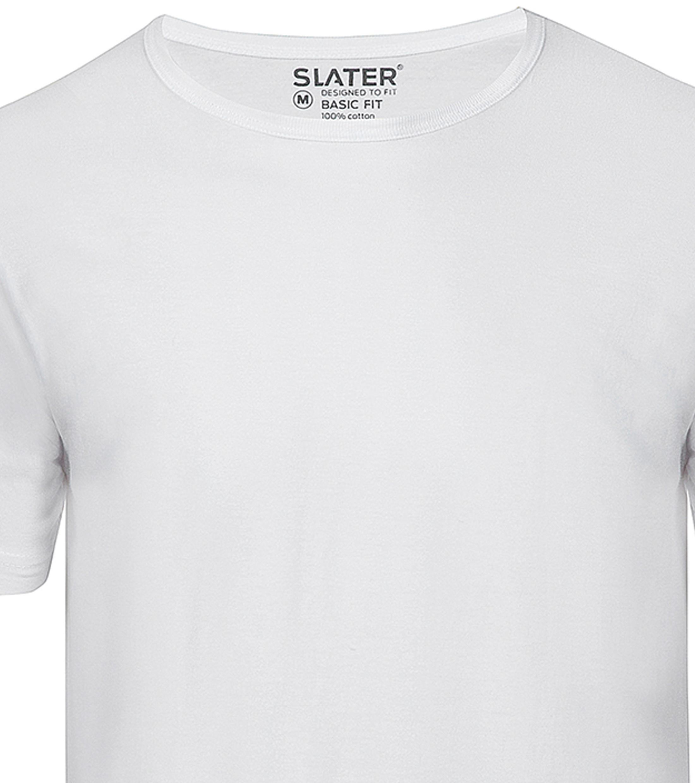 Slater 2-pack Basic Fit T-shirt Wit foto 1