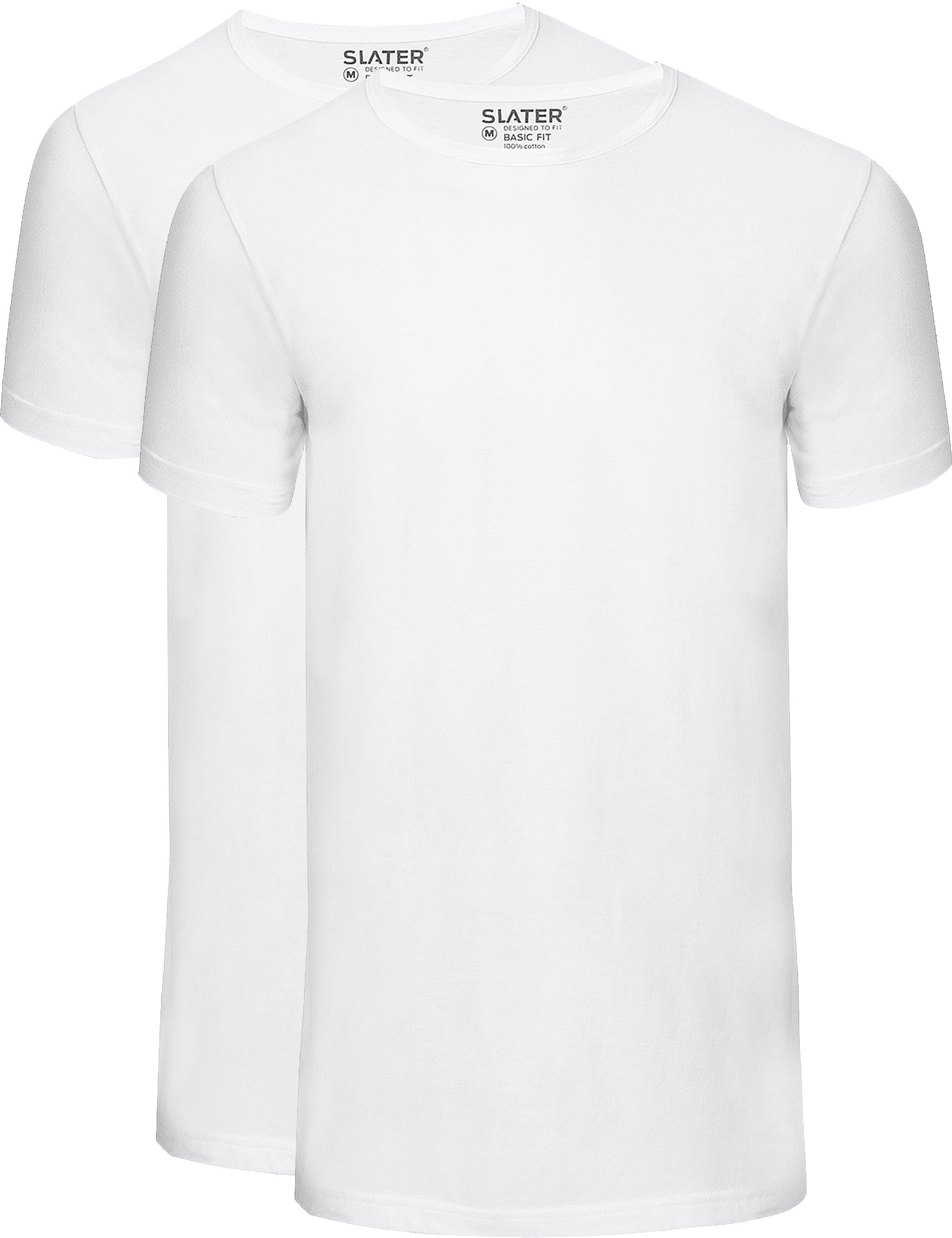 Slater 2-pack Basic Fit T-shirt Wit foto 0
