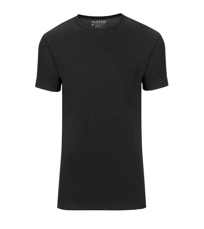Slater 2-pack Basic Fit T-shirt Zwart foto 0