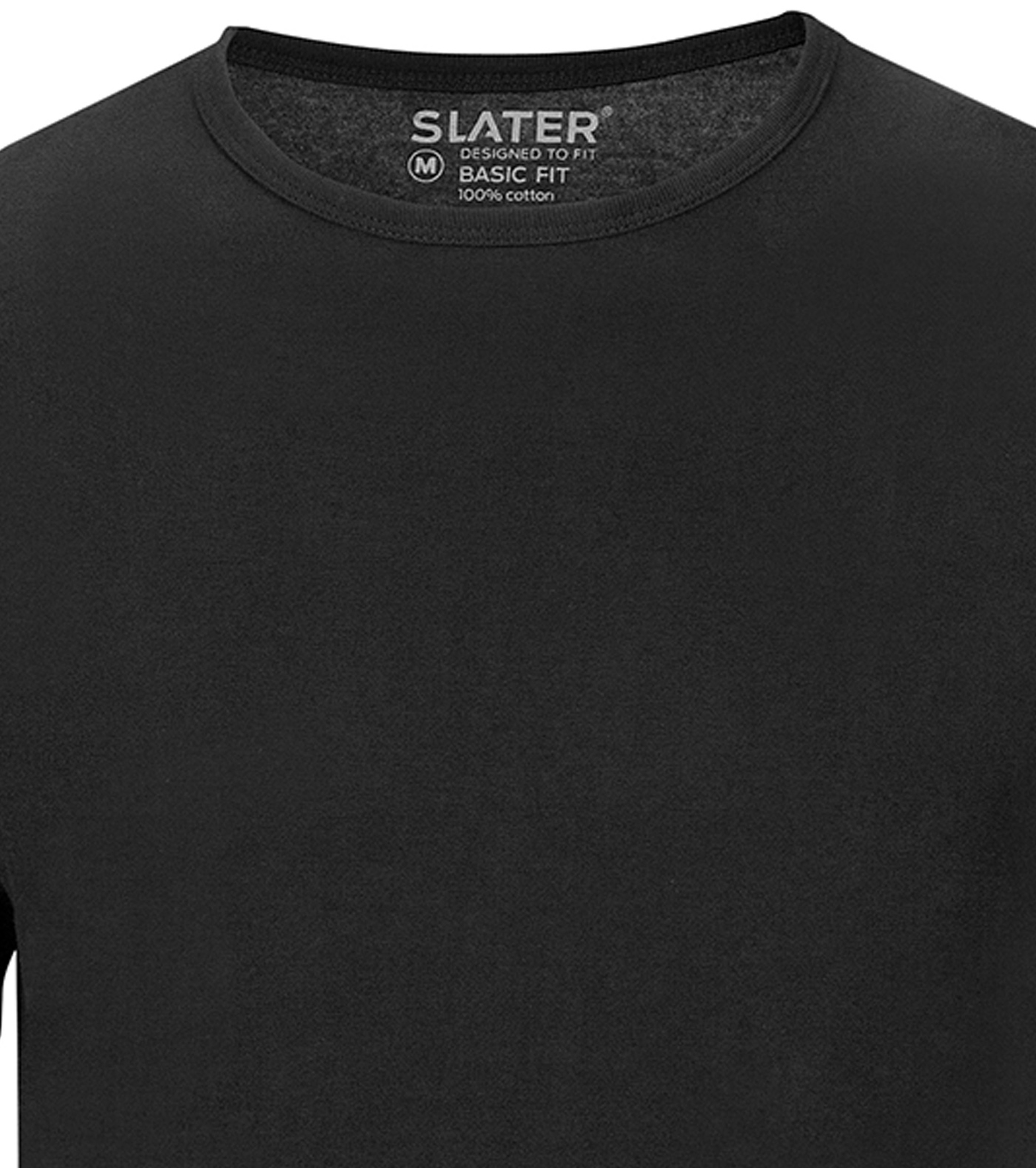 Slater 2-pack Basic Fit T-shirt Zwart foto 1