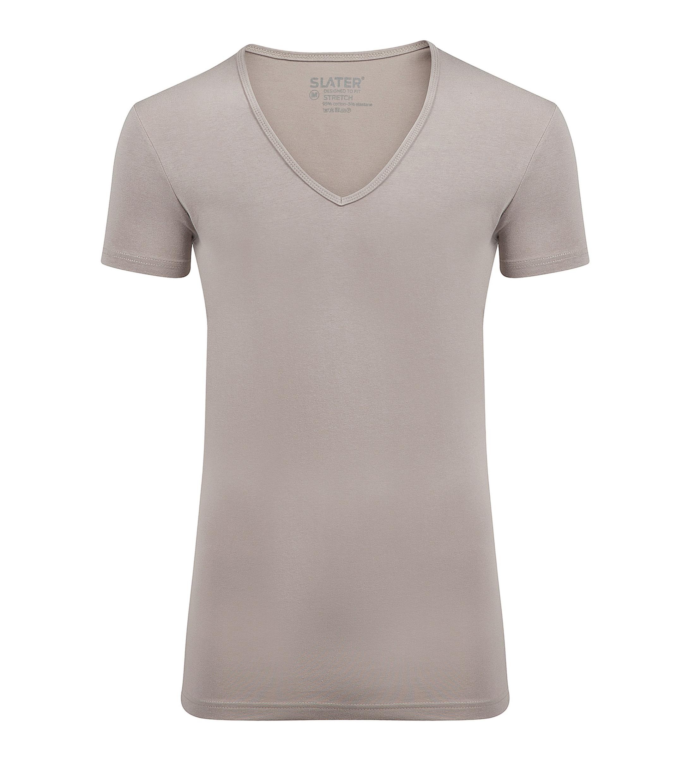 Slater 2er-Pack Stretch T-shirt V-Ausschnitt Beige foto 0