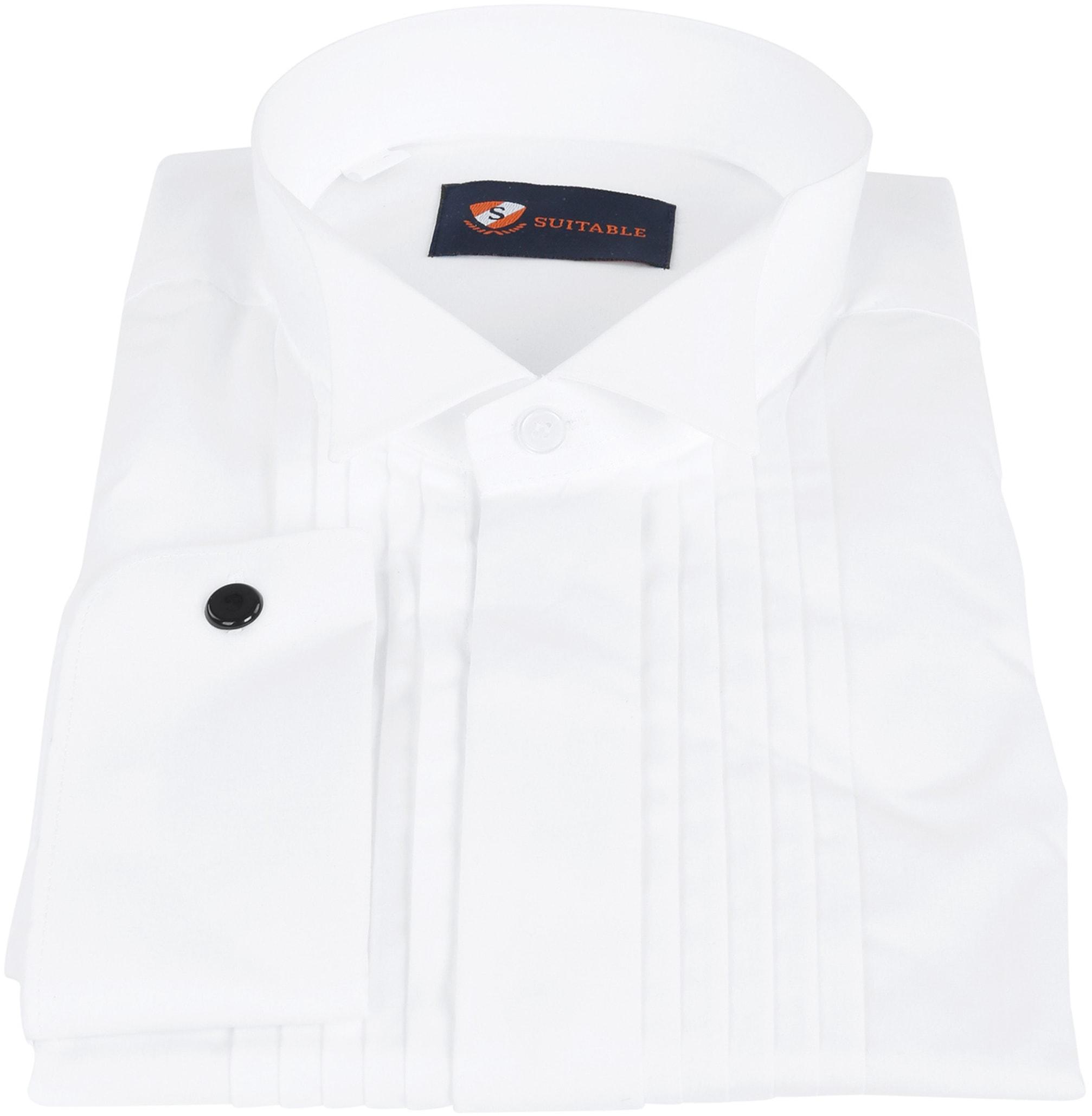 Smokinghemd Hemd mit Plisseefalten Doppelmanschette Foto 2
