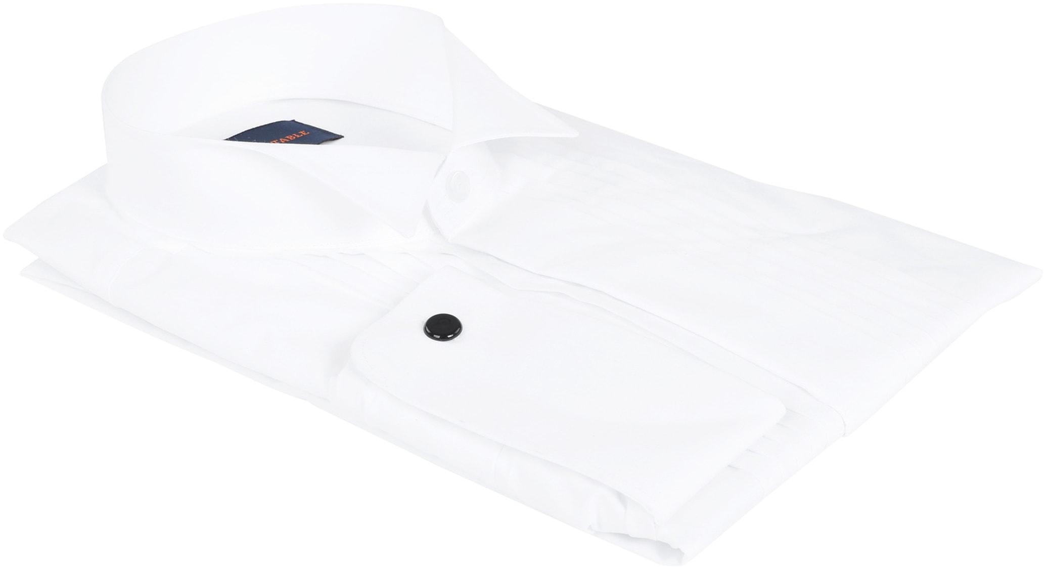 Smokinghemd Hemd mit Plisseefalten Doppelmanschette Foto 3