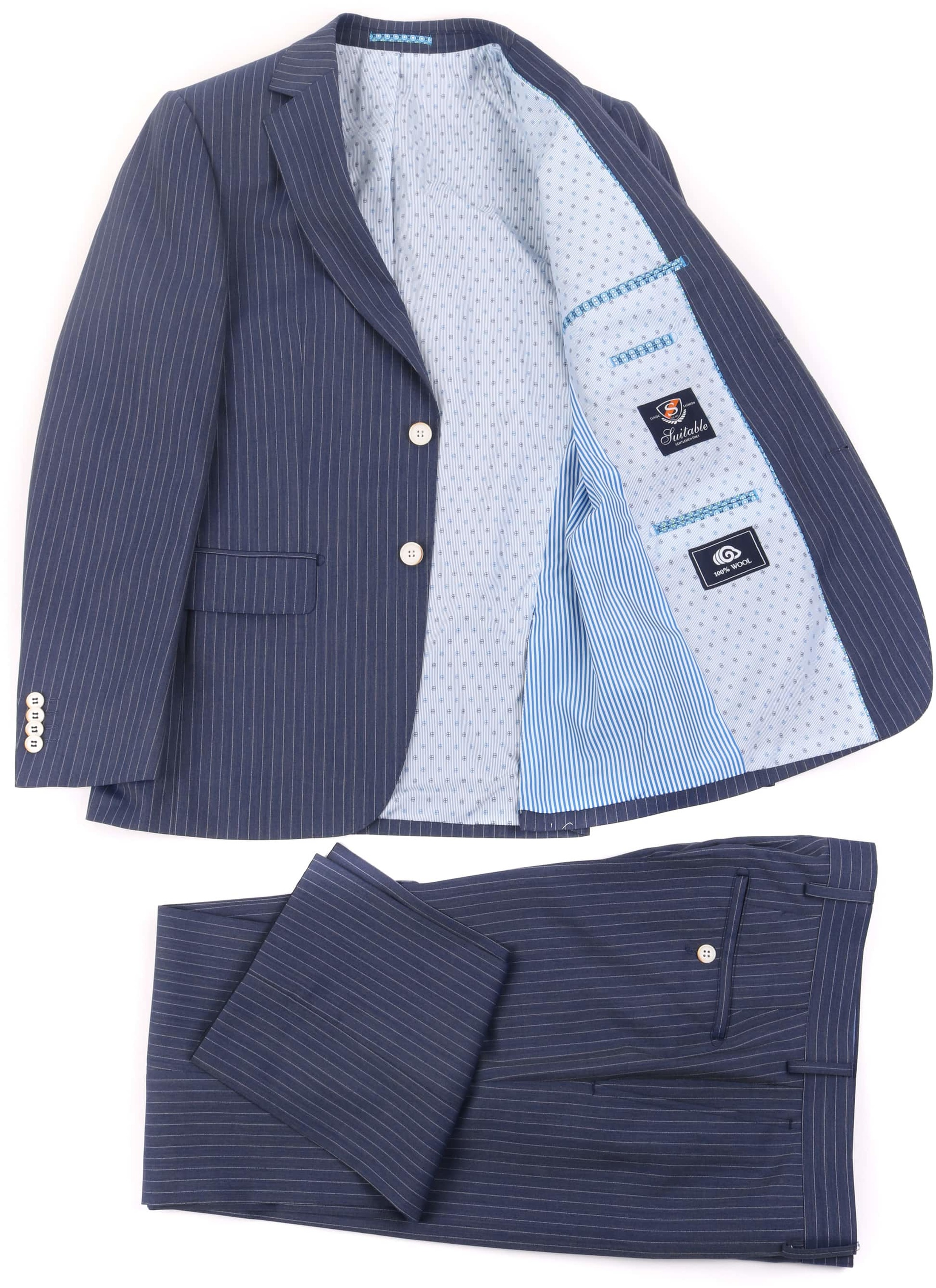 Striped Suit Manne Dark Blue