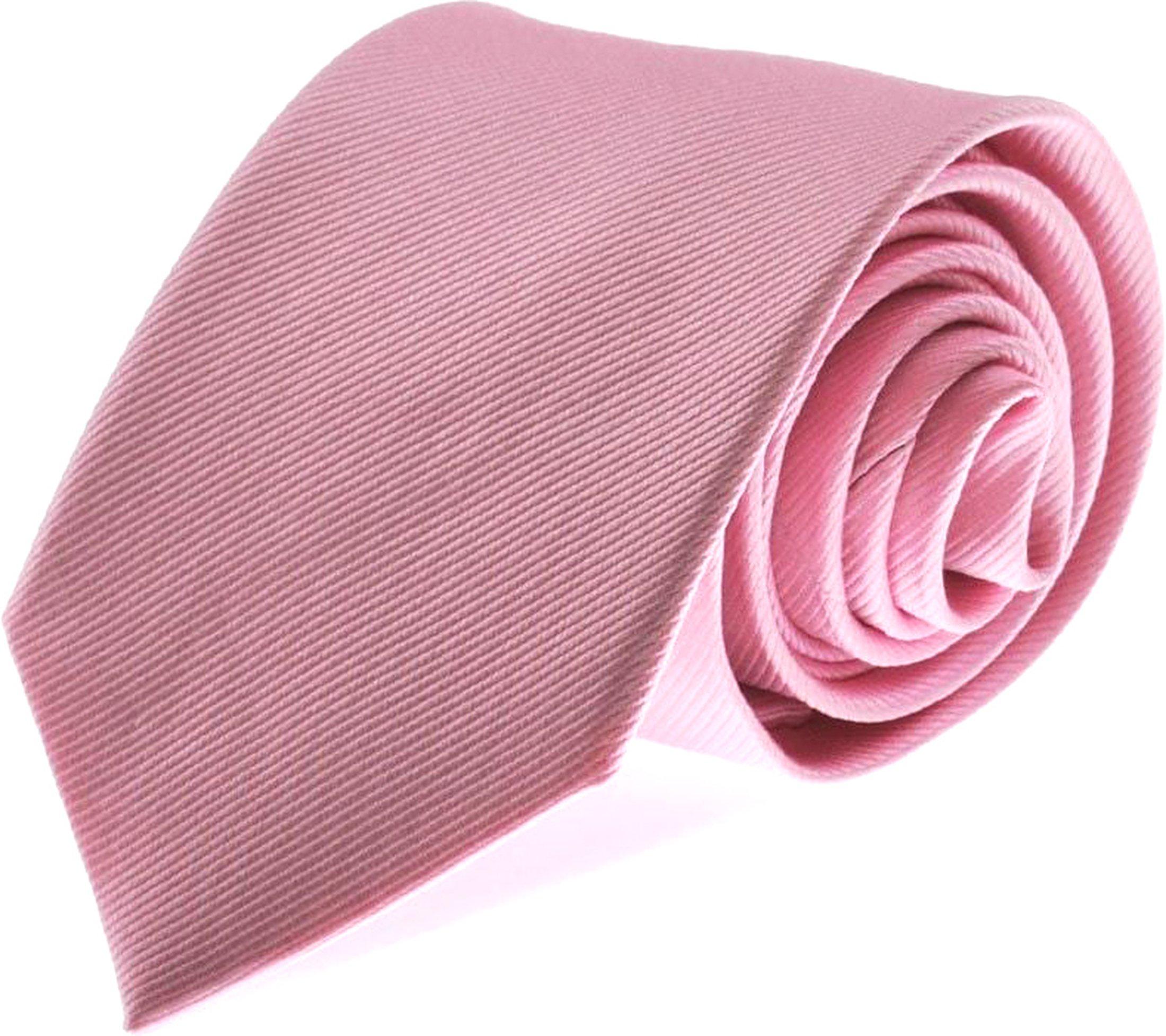 Stropdas Zijde Roze Uni F03 foto 0