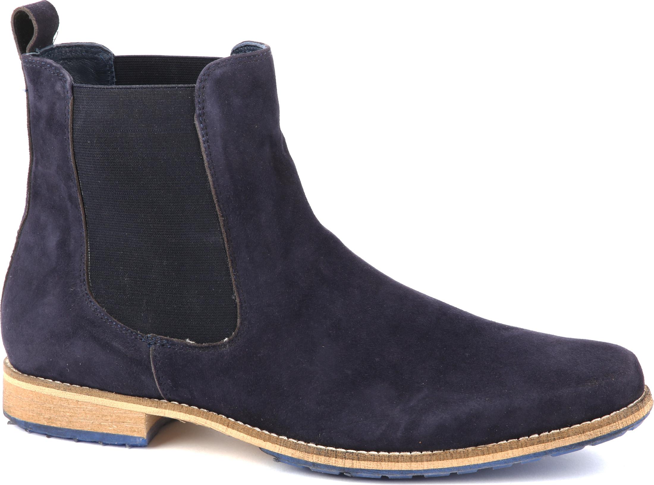 Suede Boots Chelsea Navy
