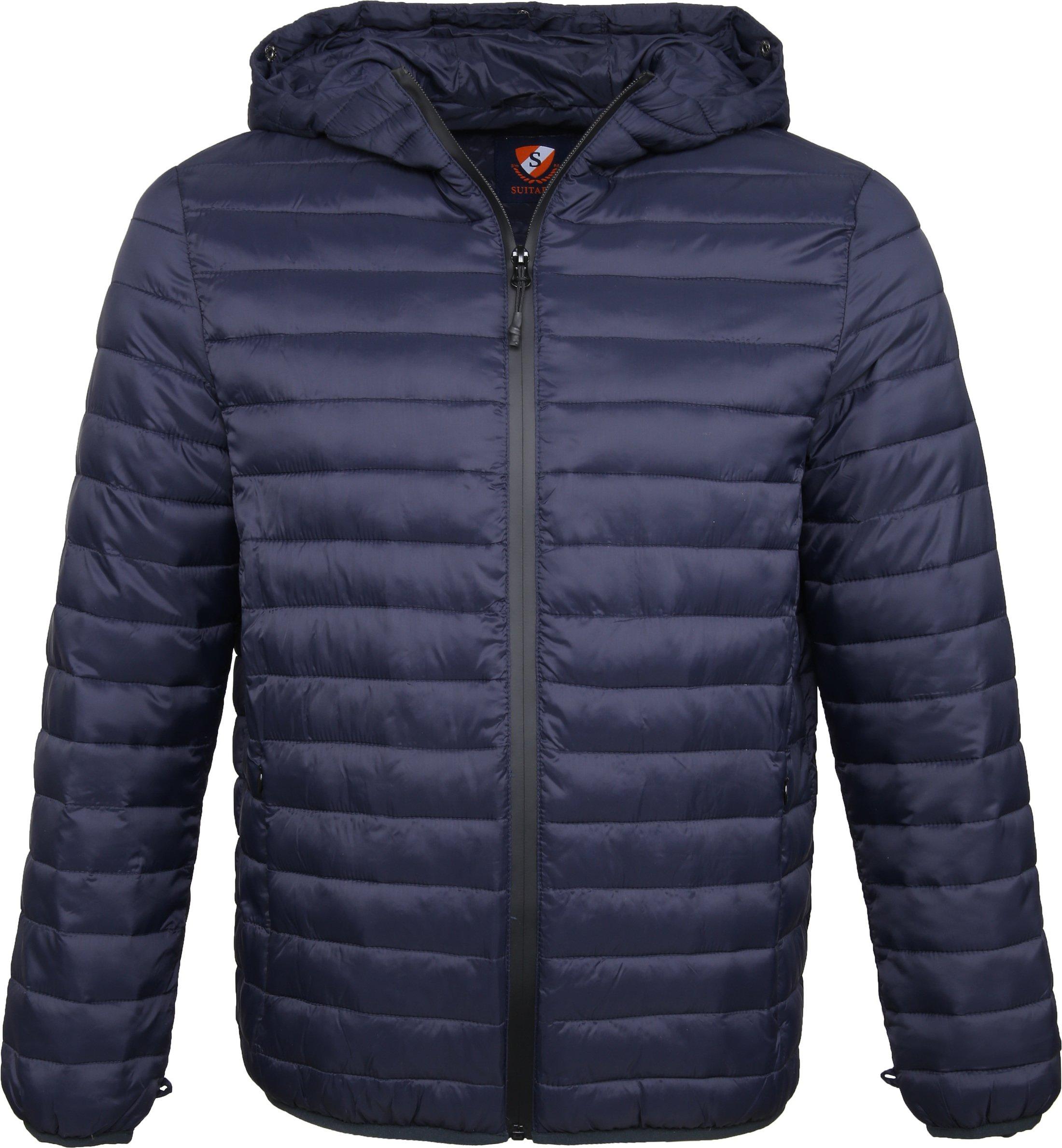 Suitable 2 in 1 Winterjas Waxed look Donkerblauw foto 1