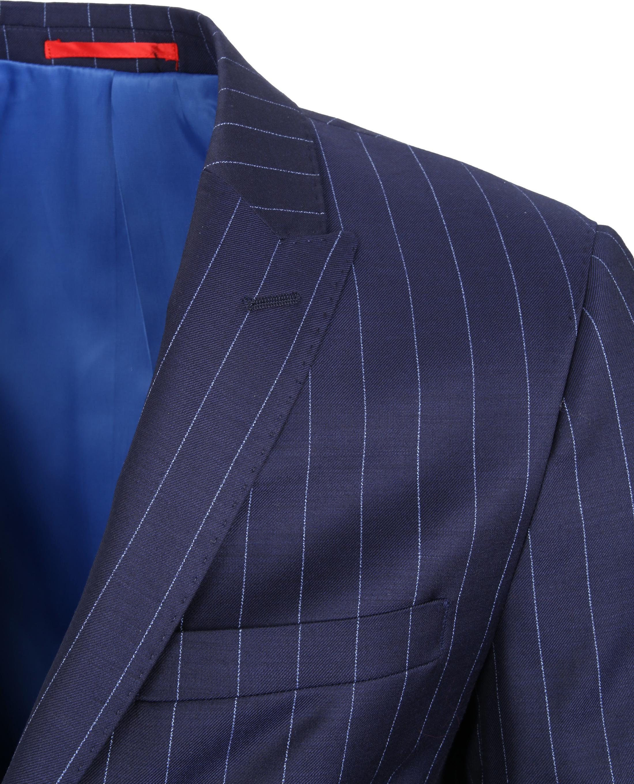 Suitable Anzug Nancy Dunkelblau Streifen foto 3