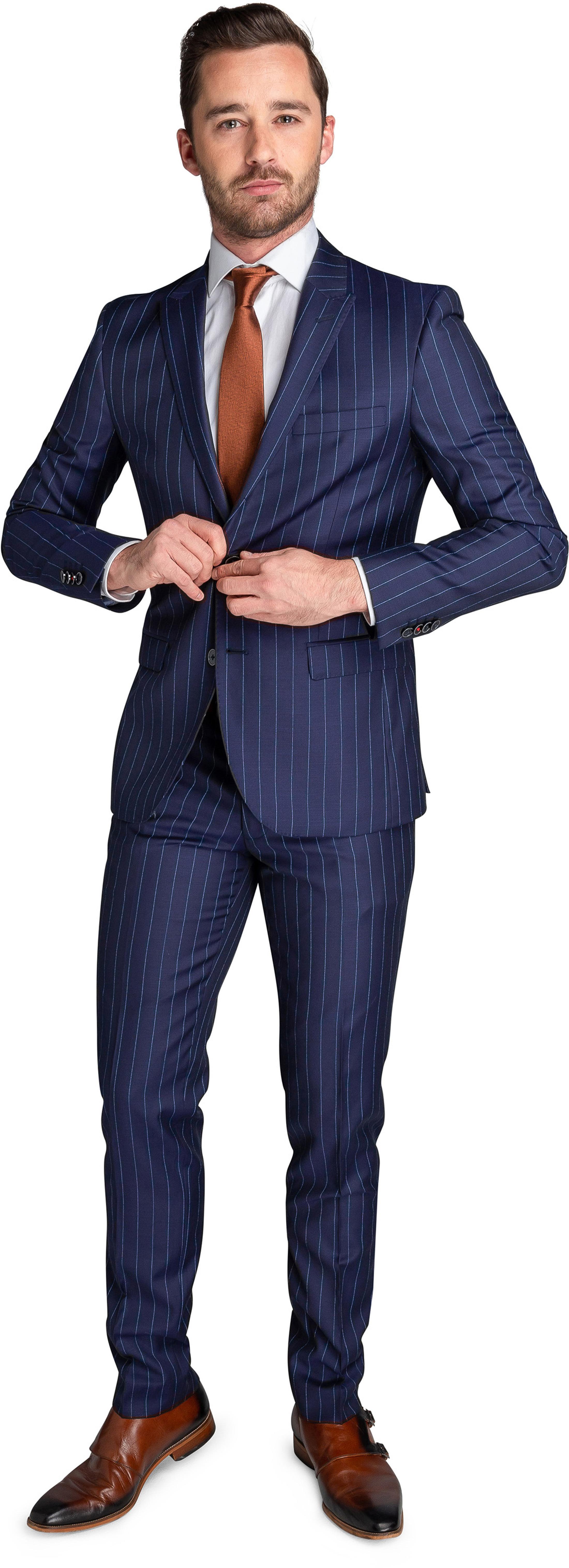 Suitable Anzug Nancy Dunkelblau Streifen foto 0