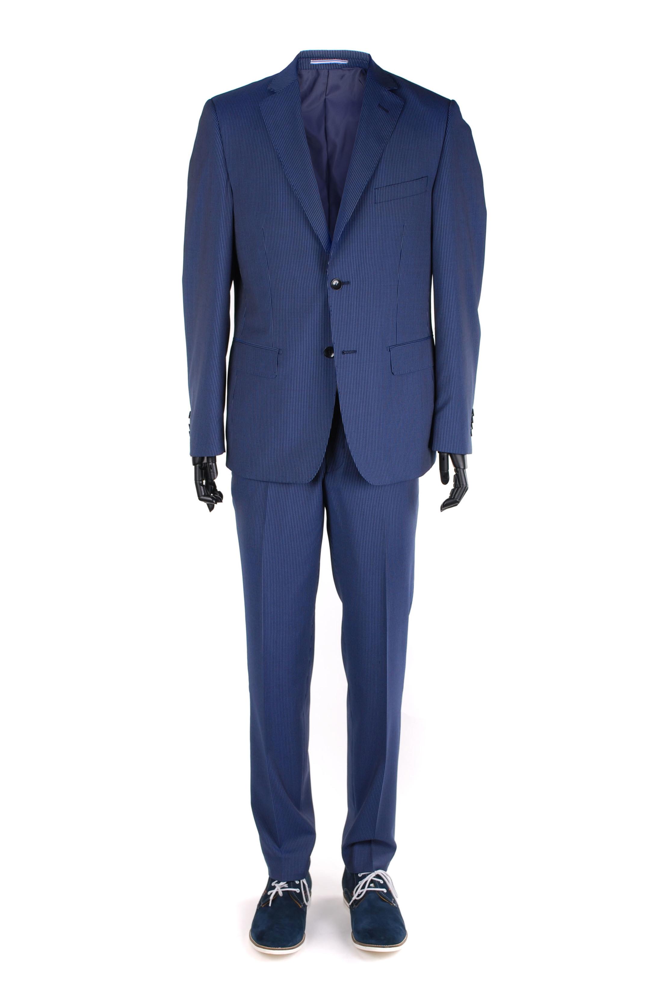 Suitable Anzug Parker Blau Streifen