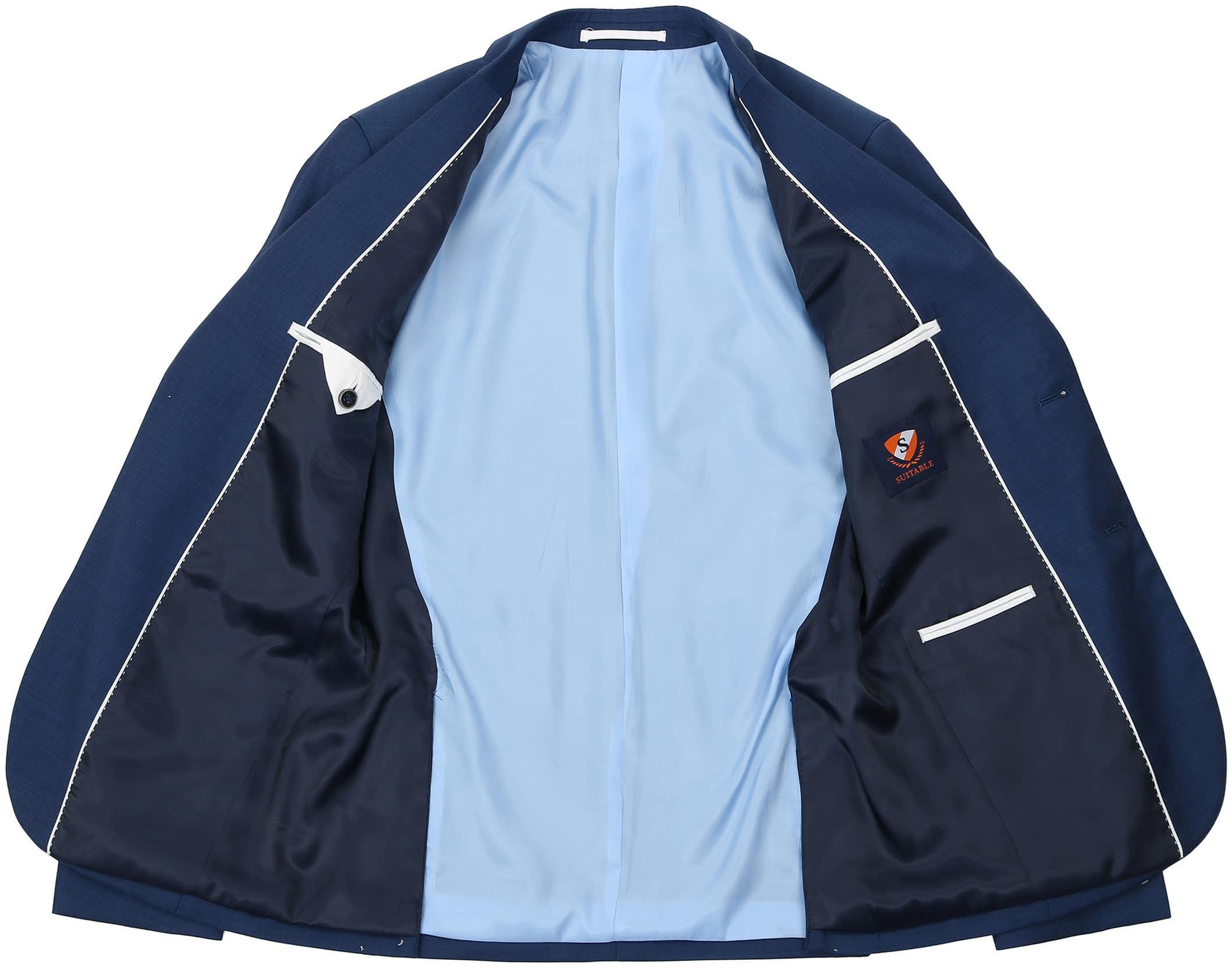 Suitable Anzug Strato Hellblau Navy foto 6
