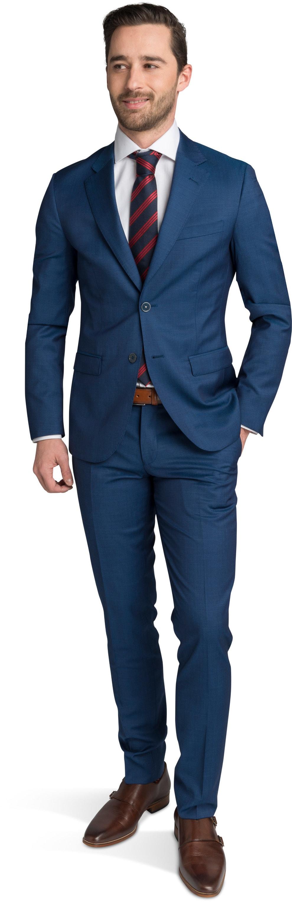 Suitable Anzug Strato Hellblau Navy foto 0