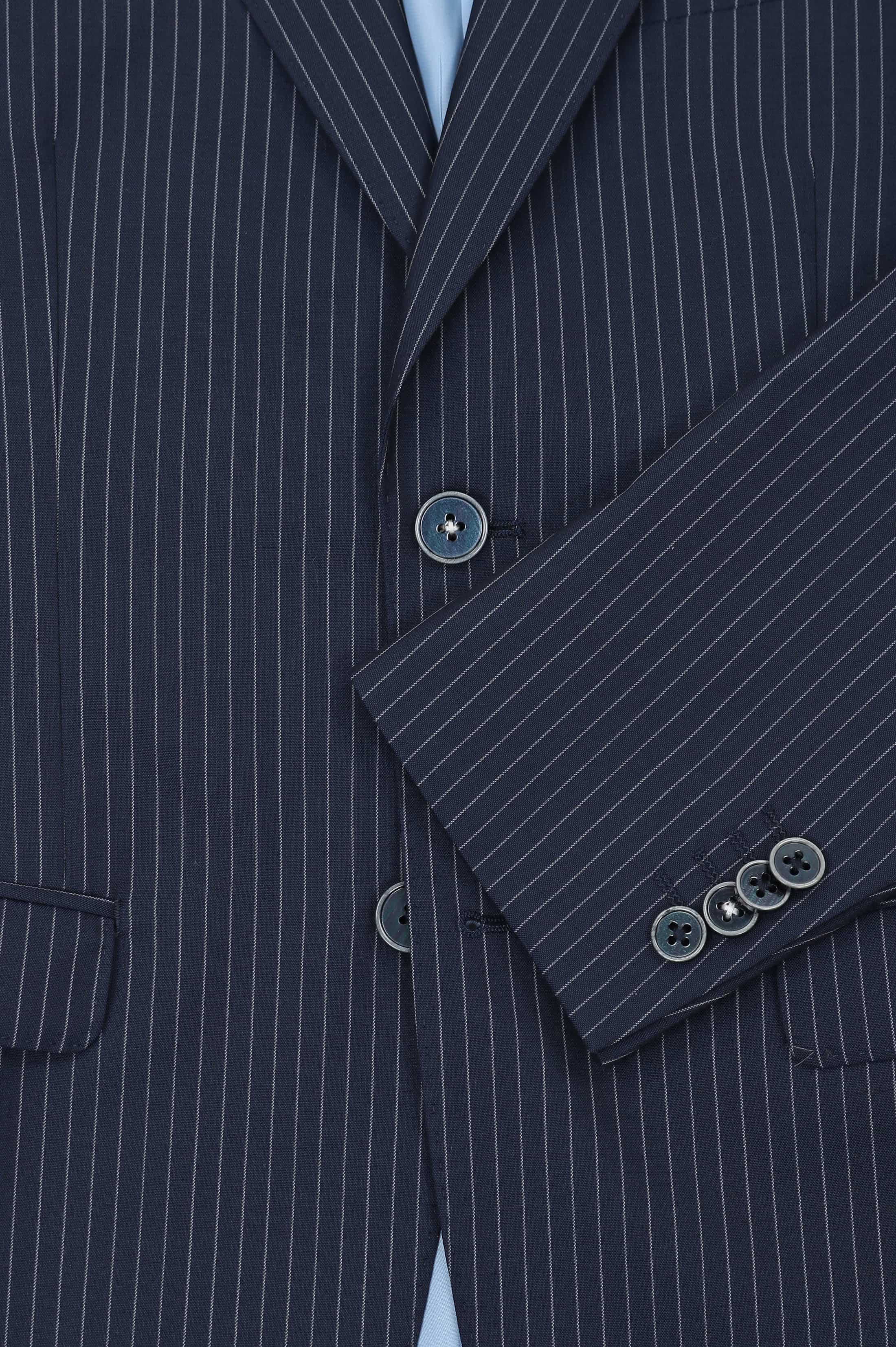 Suitable Anzug Strato Streifen Dunkelblau foto 2