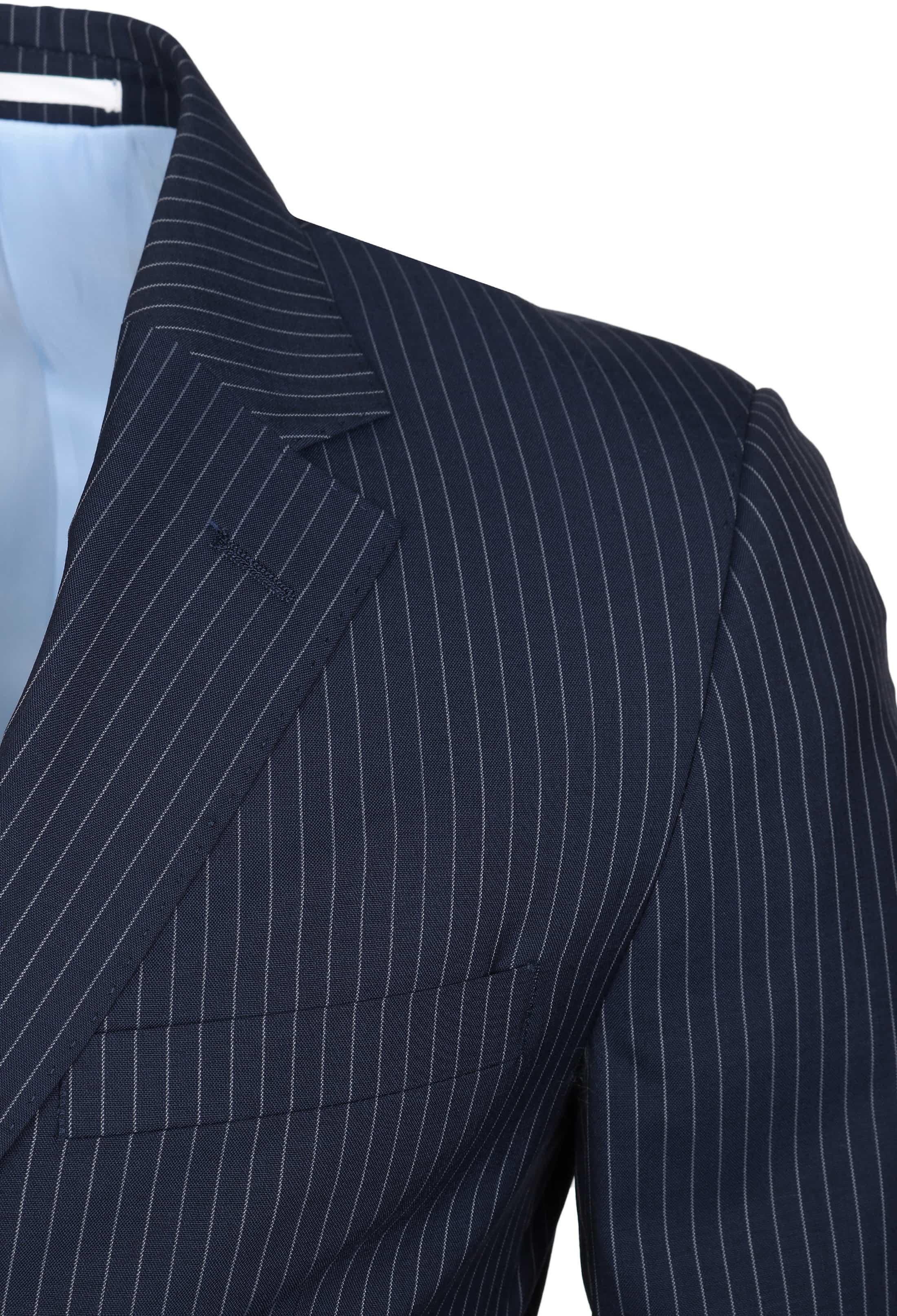 Suitable Anzug Strato Streifen Dunkelblau foto 3