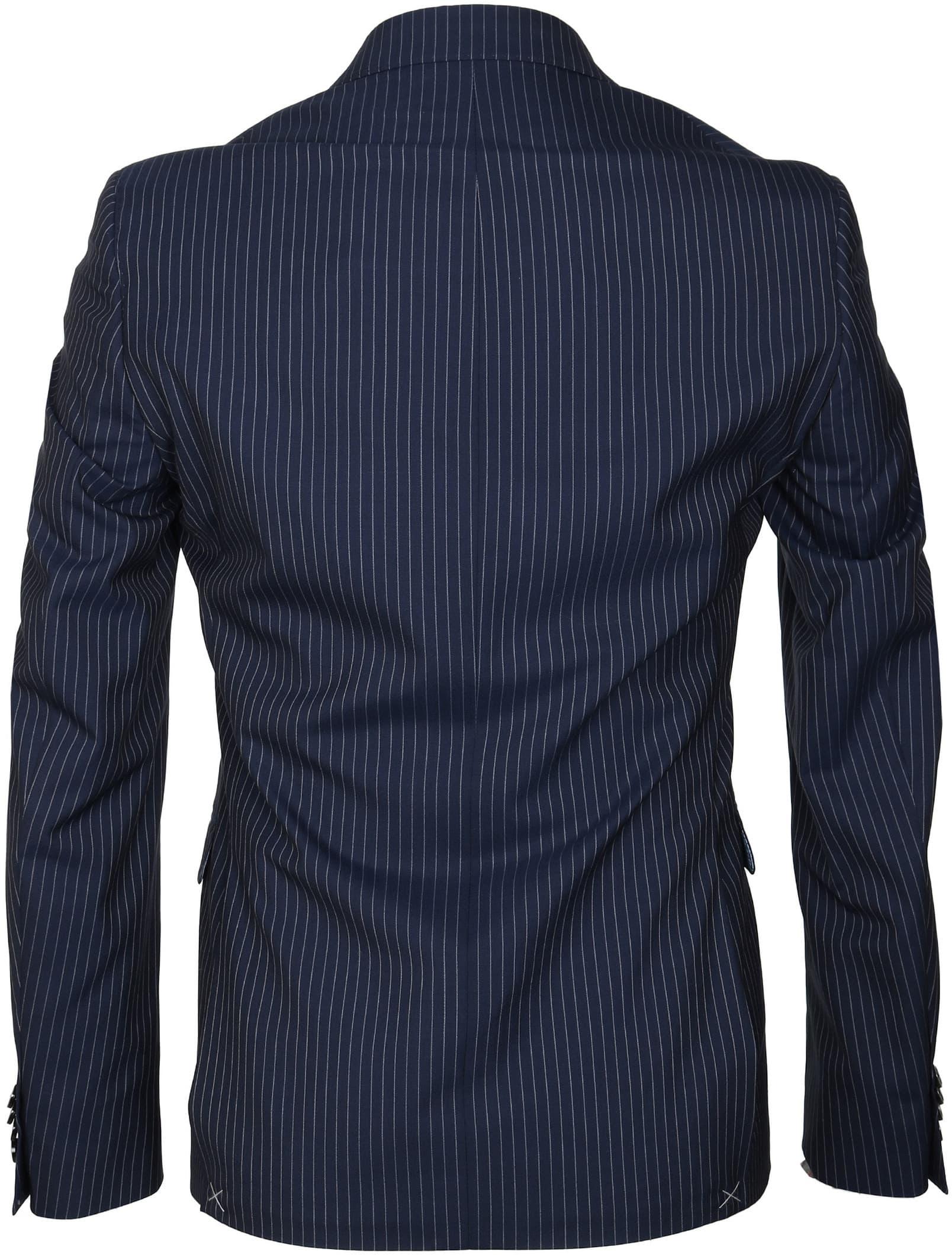 Suitable Anzug Strato Streifen Dunkelblau foto 4