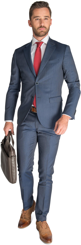 Suitable Anzug Wien Blau foto 0