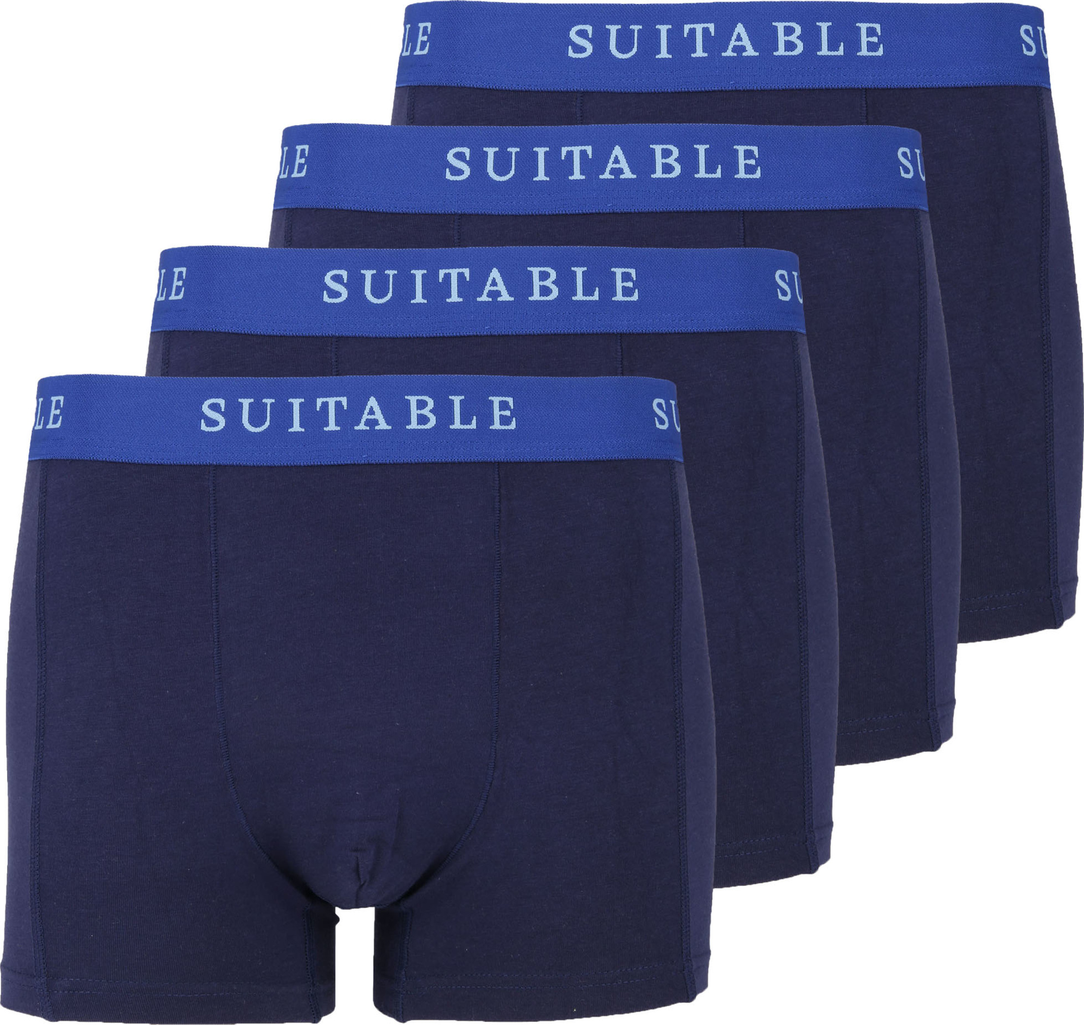 Suitable Bamboo Boxershorts 4er-Pack Dunkelblau