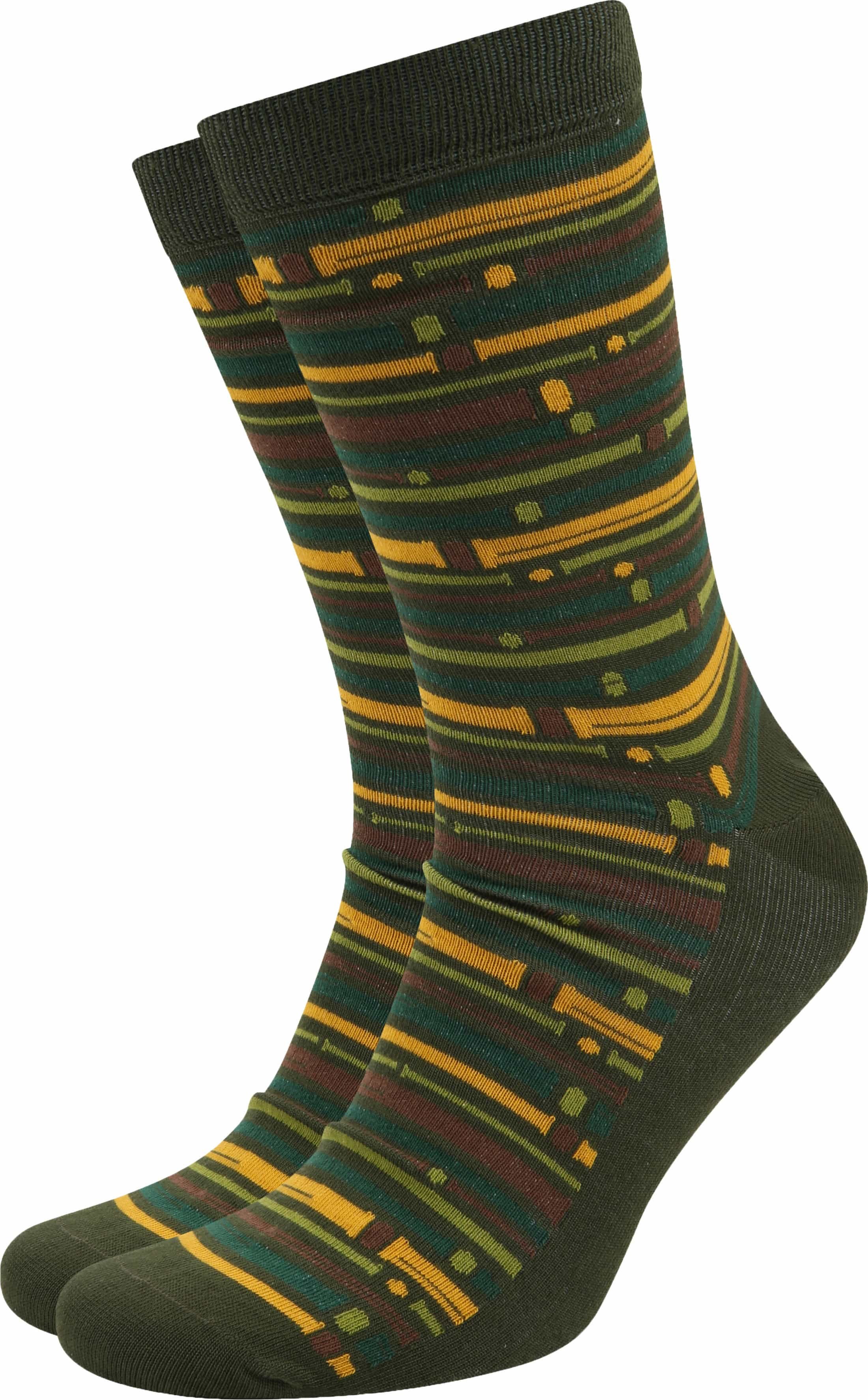 Suitable Bamboo Pattern Socks Green