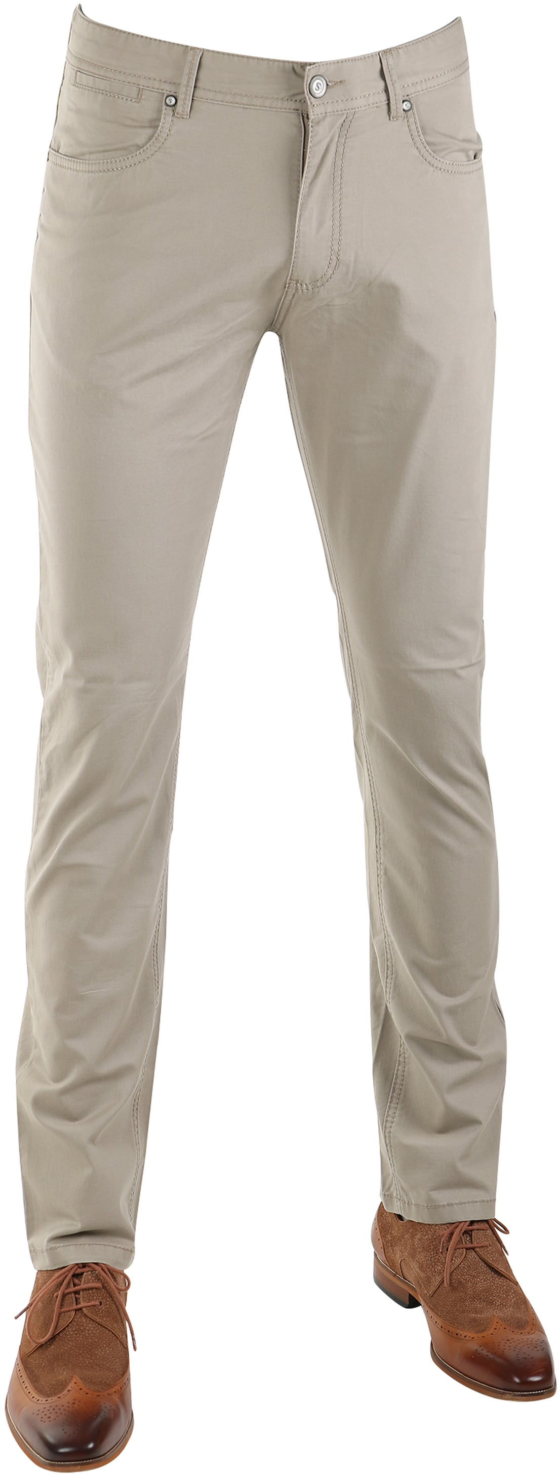 Suitable Barrie Broek Khaki foto 0
