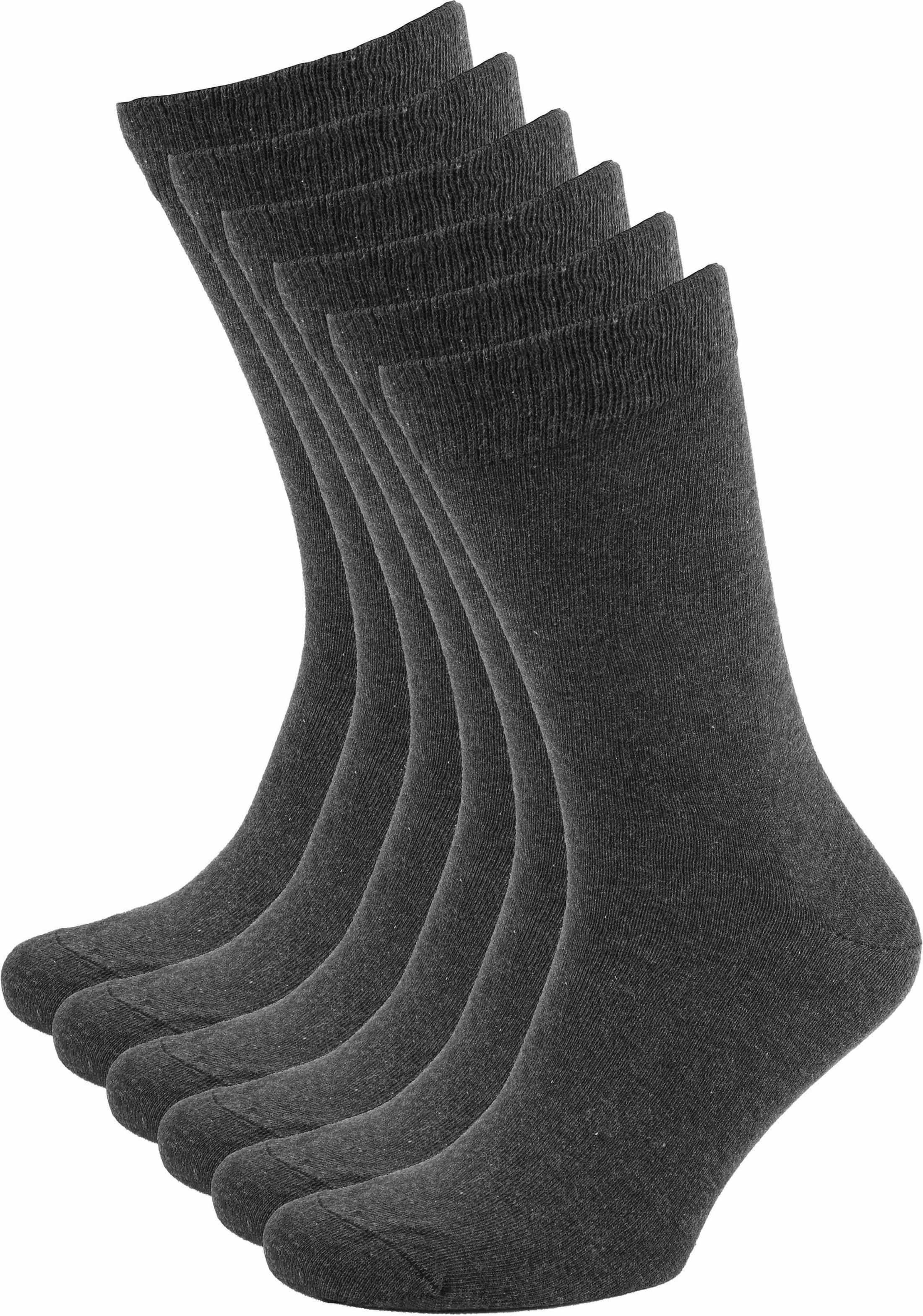 Suitable Bio-Baumwolle Socken Dunkelgrau 6-Pack foto 0